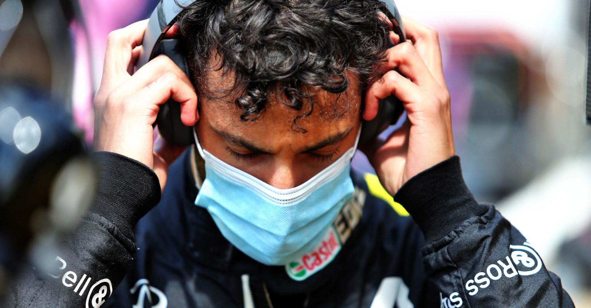 Daniel Ricciardo (AUS) Renault F1 Team on the grid. British Grand Prix, Sunday 2nd August 2020. Silverstone, England.