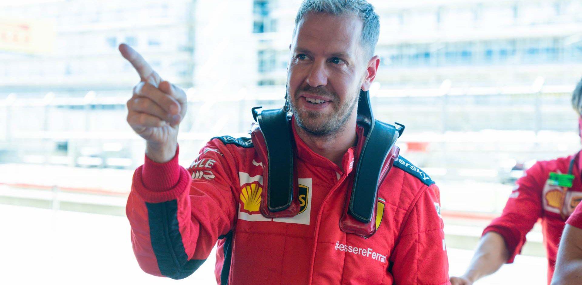 Sebastian Vettel Ferrari HANS
