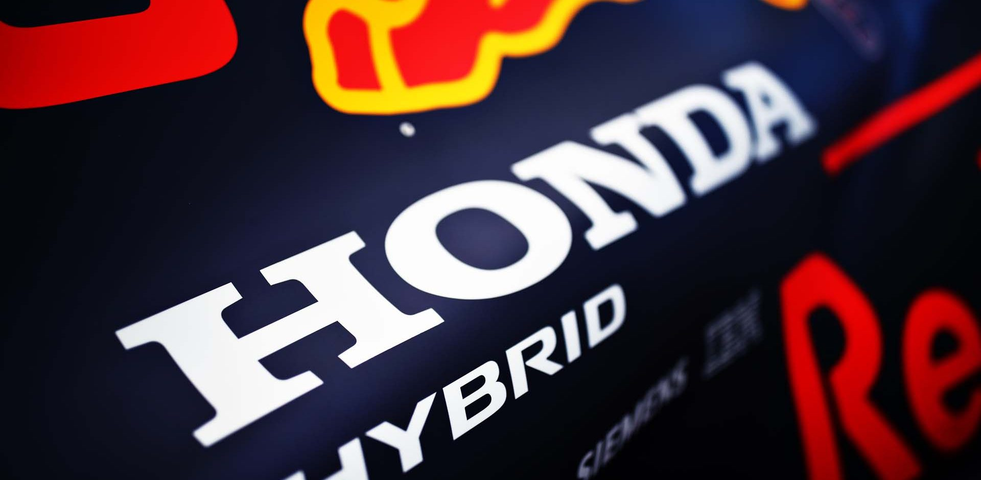 NORTHAMPTON, ENGLAND - JULY 30: Honda branding is seen on the Red Bull Racing RB16 during previews ahead of the F1 Grand Prix of Great Britain at Silverstone on July 30, 2020 in Northampton, England. (Photo by Mark Thompson/Getty Images)