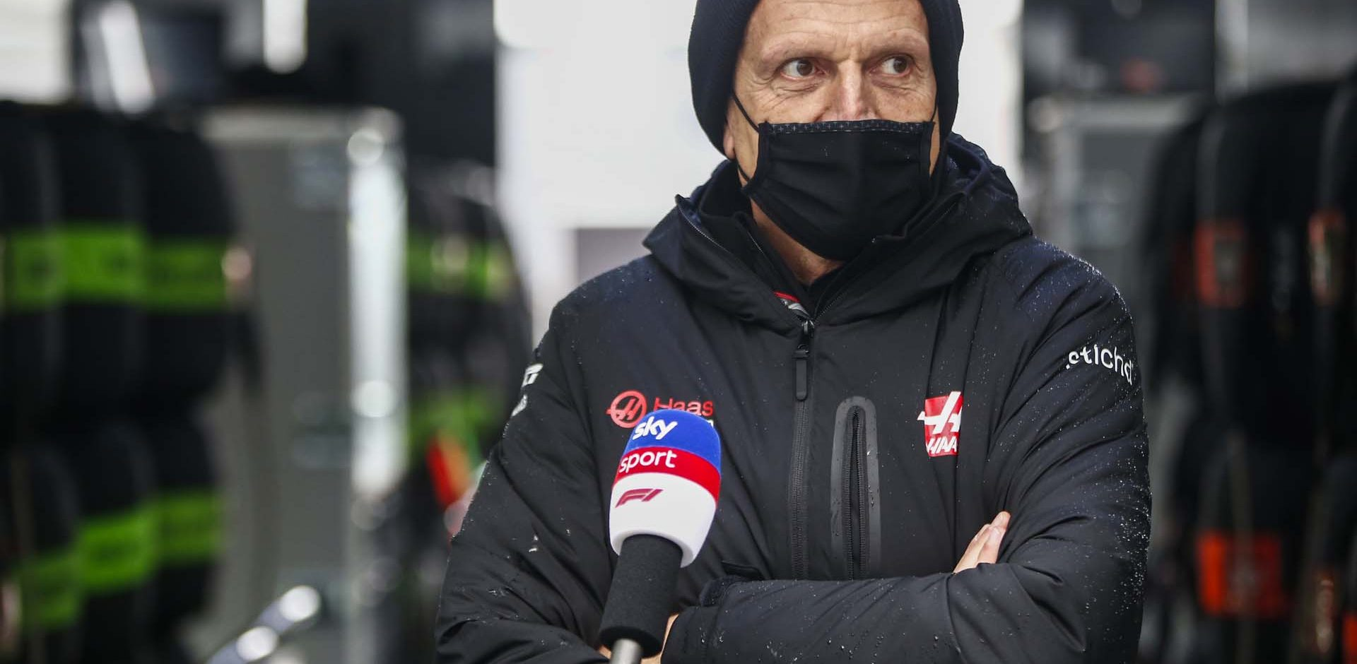 N√ľRBURGRING, GERMANY - OCTOBER 09: Guenther Steiner, Team Principal, Haas F1, is interviewed for Sky Sports F1 during the Eifel GP at N√ľrburgring on Friday October 09, 2020, Germany. (Photo by Andy Hone / LAT Images)