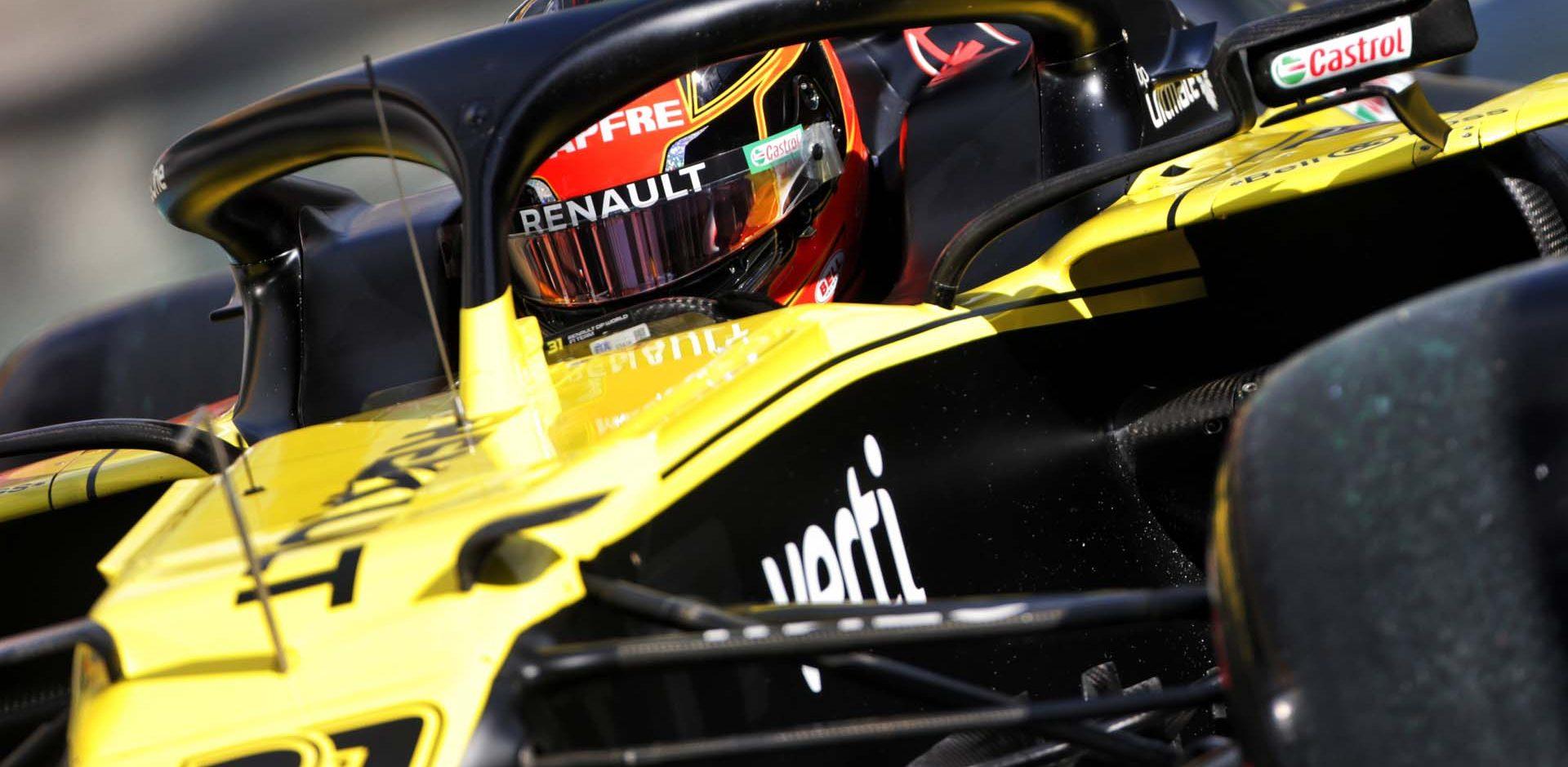 Esteban Ocon (FRA) Renault F1 Team RS20. Eifel Grand Prix, Saturday 10th October 2020. Nurbugring, Germany.