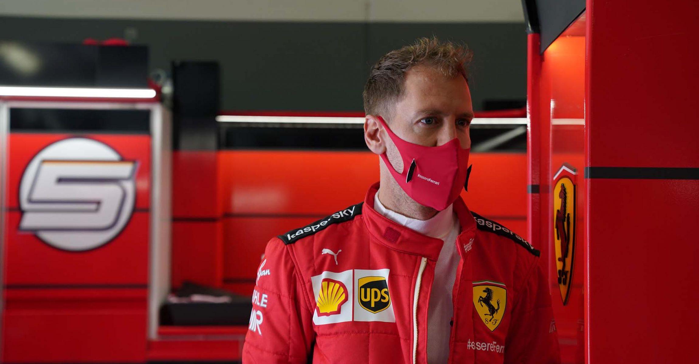 GP GERMANIA F1/2020 -  SABATO  10/10/2020   credit: @Scuderia Ferrari Press Office Sebastian Vettel Ferrari