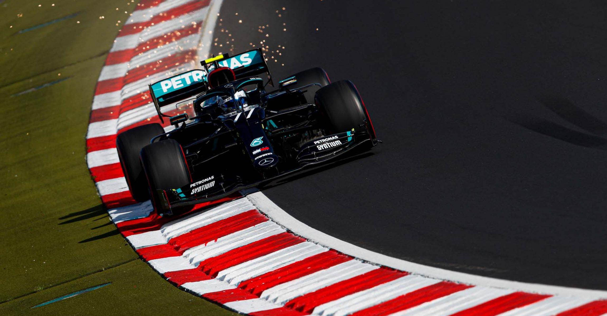 2020 Eifel Grand Prix, Saturday - LAT Images Valtteri Bottas Mercedes sparks