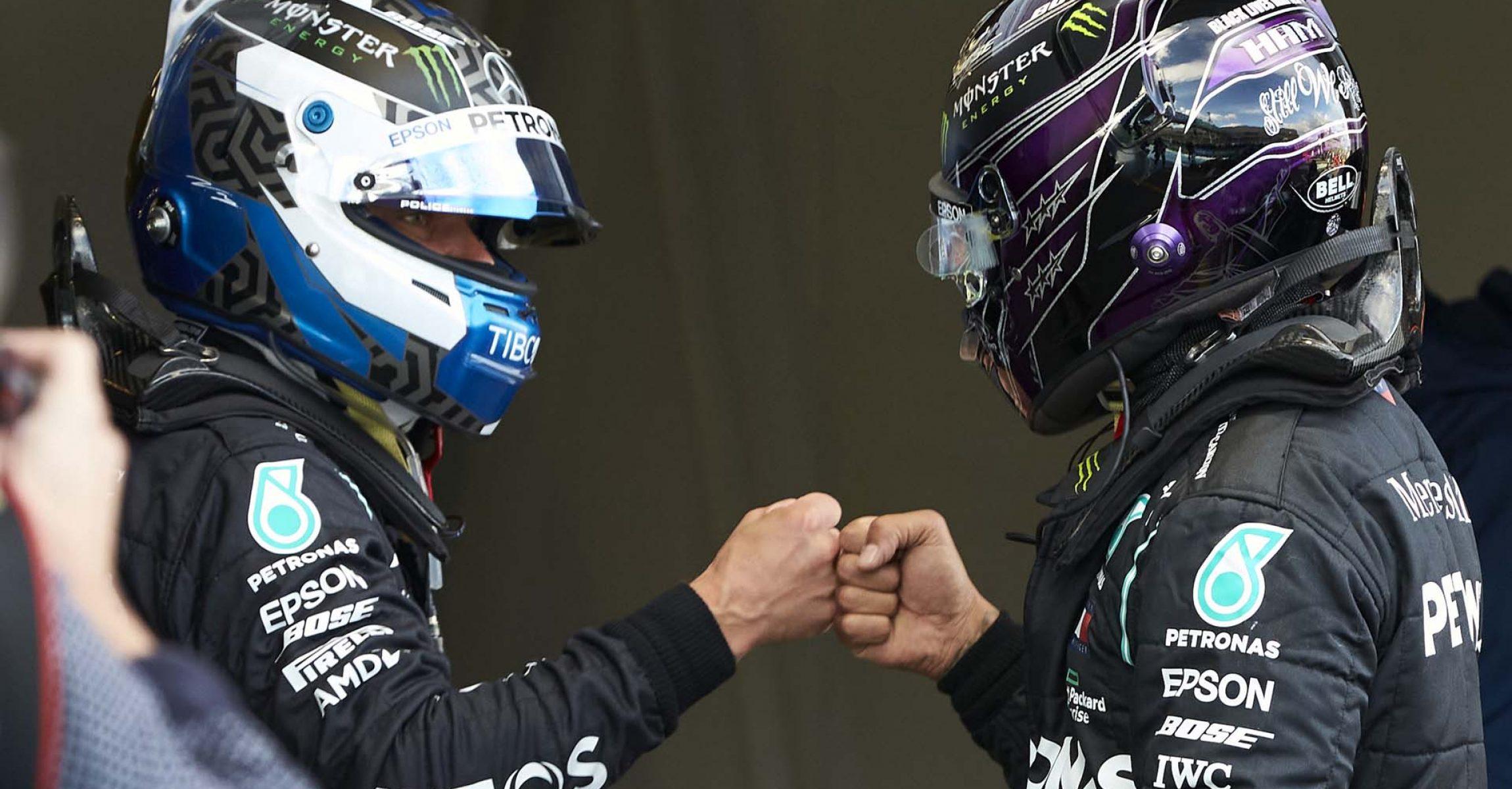 2020 Eifel Grand Prix, Saturday - Steve Etherington Valtteri Bottas Lewis Hamilton