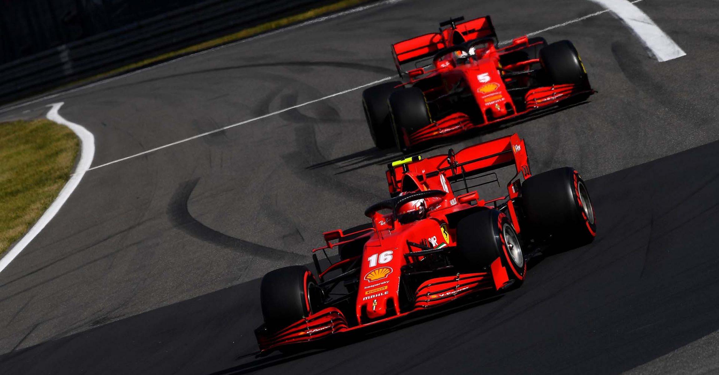 GP GERMANIA F1/2020 -  DOMENICA 11/10/2020   credit: @Scuderia Ferrari Press Office Charles Leclerc, Sebastian Vettel