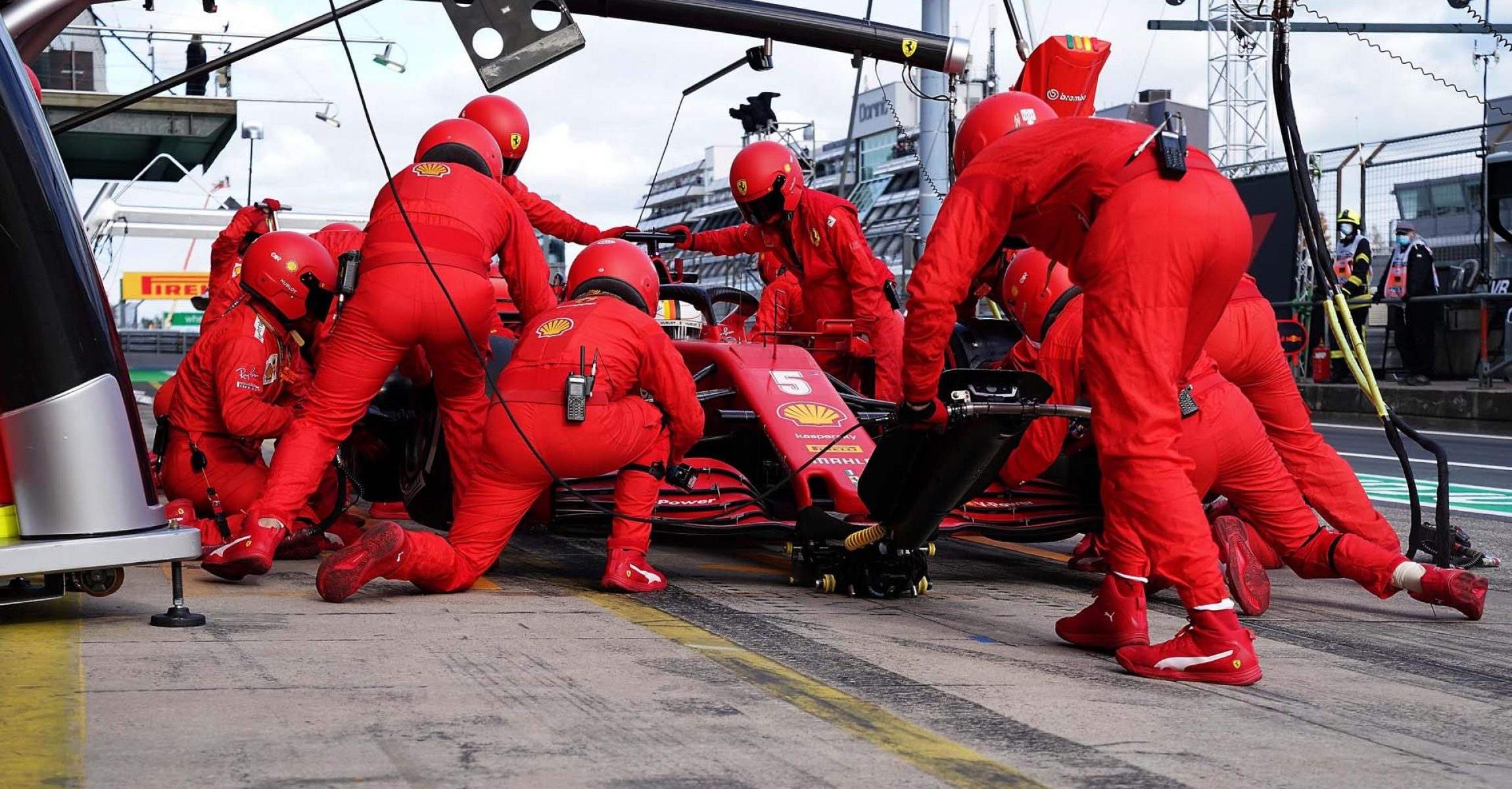 GP GERMANIA F1/2020 -  DOMENICA 11/10/2020   credit: @Scuderia Ferrari Press Office Sebastian Vettel pitstop