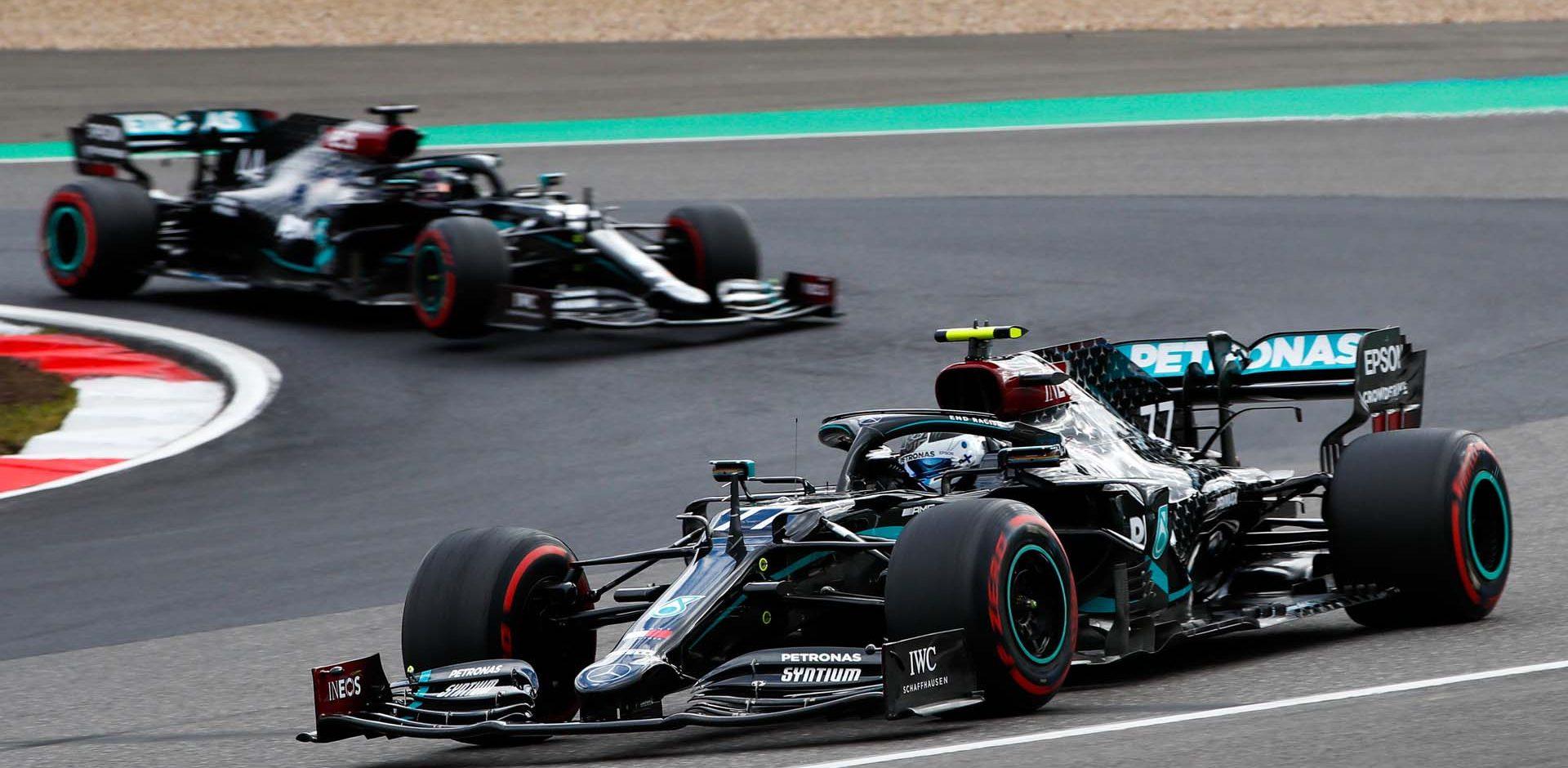 2020 Eifel Grand Prix, Sunday - LAT Images Valtteri Bottas Lewis Hamilton Mercedes