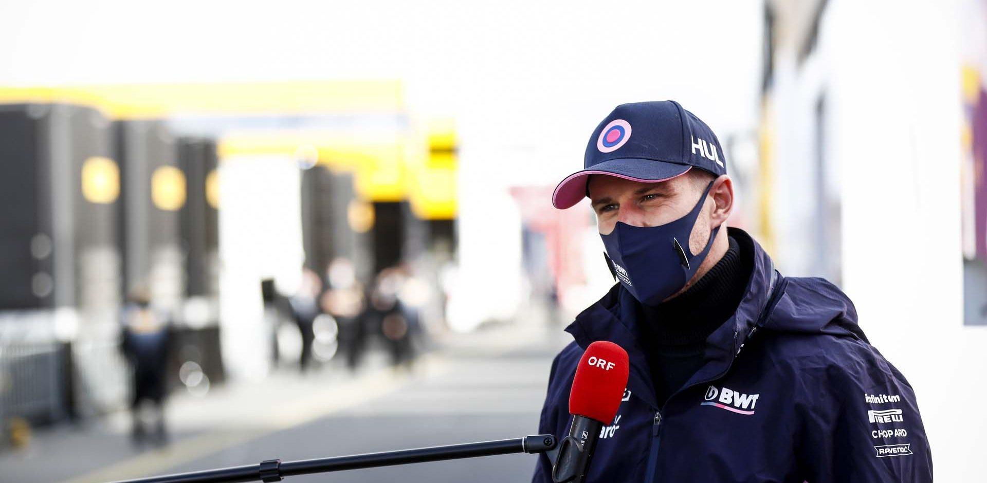 Nico Hülkenberg, Racing Point speaks to the media ORF