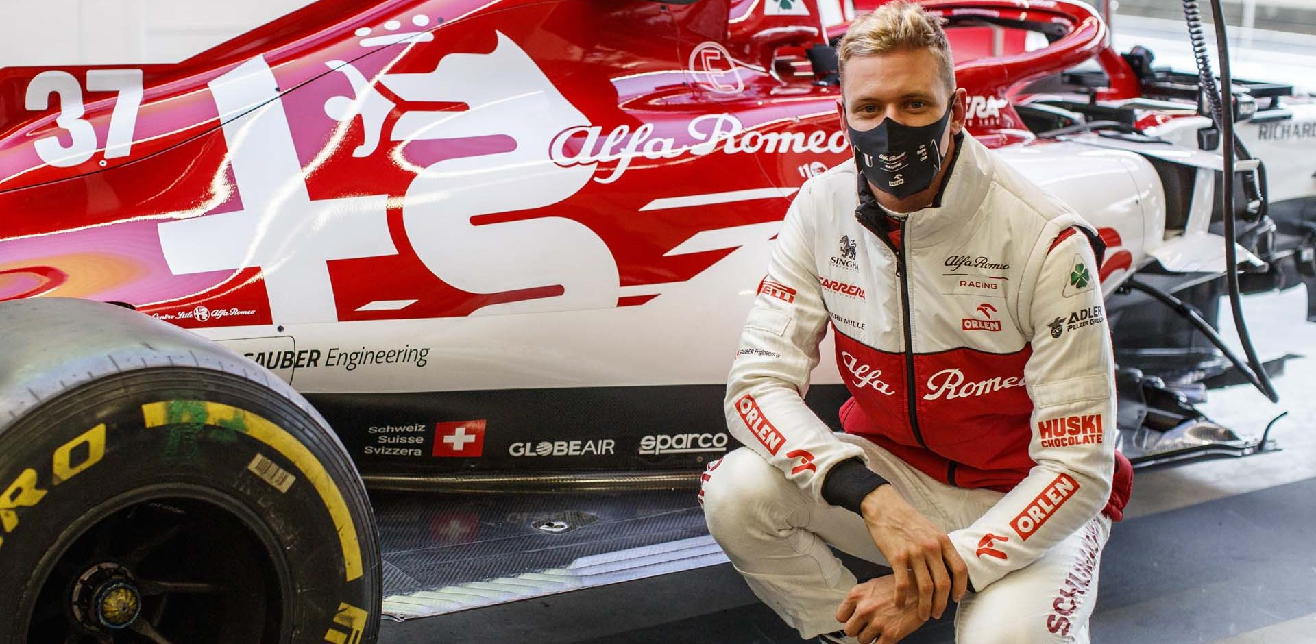 SCHUMACHER Mick (ger), Alfa Romeo Racing ORLEN C39, portrait during the Formula 1 Aramco Grosser Preis Der Eifel 2020, Eifel Grand Prix, from October 9 to 11, 2020 on the Nürburgring, in Nürburg, Germany - Photo Xavi Bonilla / DPPI
