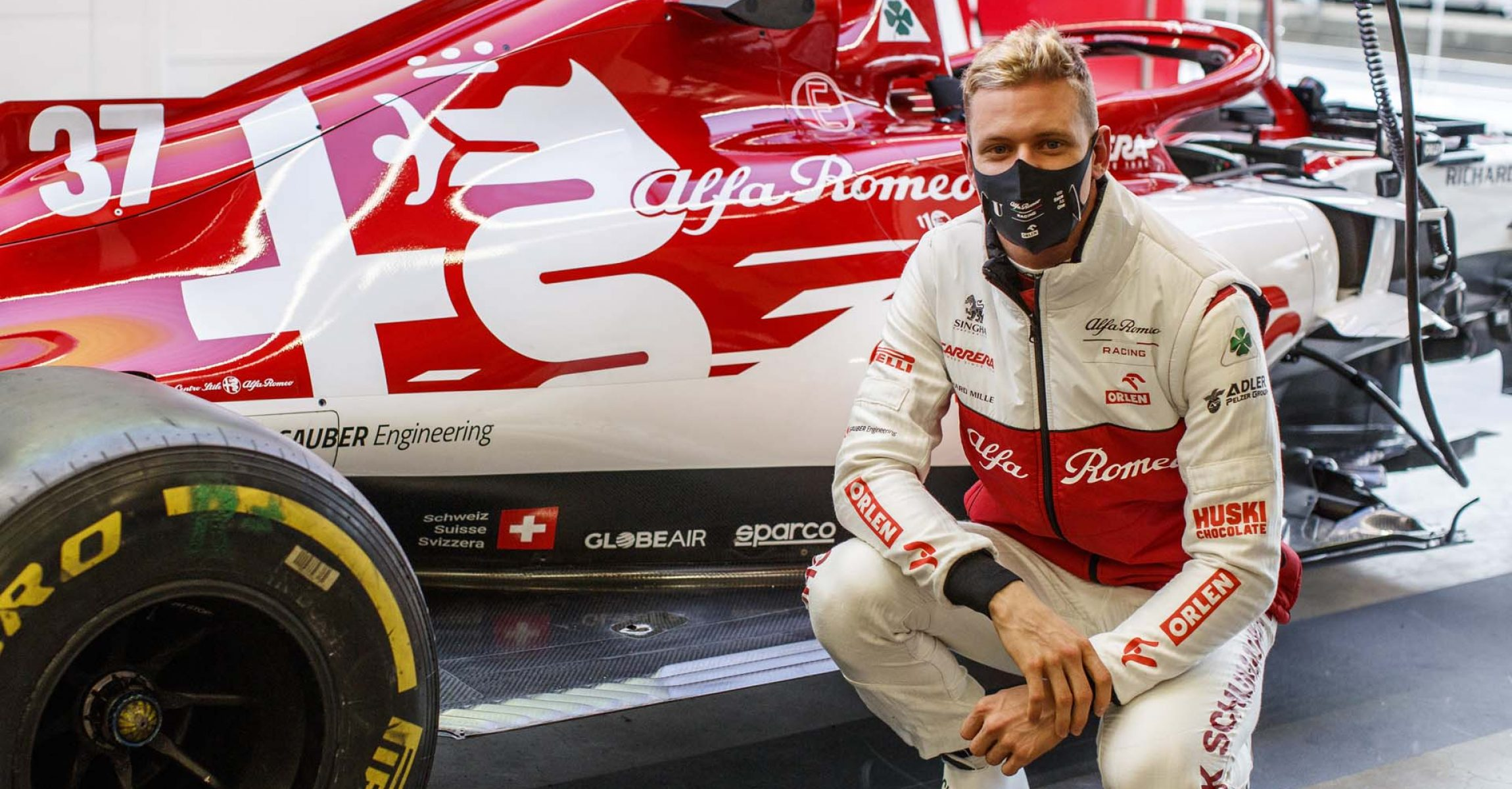 SCHUMACHER Mick (ger), Alfa Romeo Racing ORLEN C39, portrait during the Formula 1 Aramco Grosser Preis Der Eifel 2020, Eifel Grand Prix, from October 9 to 11, 2020 on the Nürburgring, in Nürburg, Germany - Photo Xavi Bonilla / DPPI