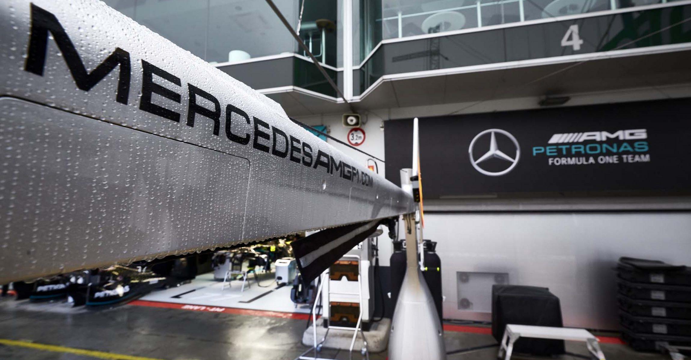 2020 Eifel Grand Prix, Thursday - Steve Etherington Mercedes AMG Petronas Formula One Team logo