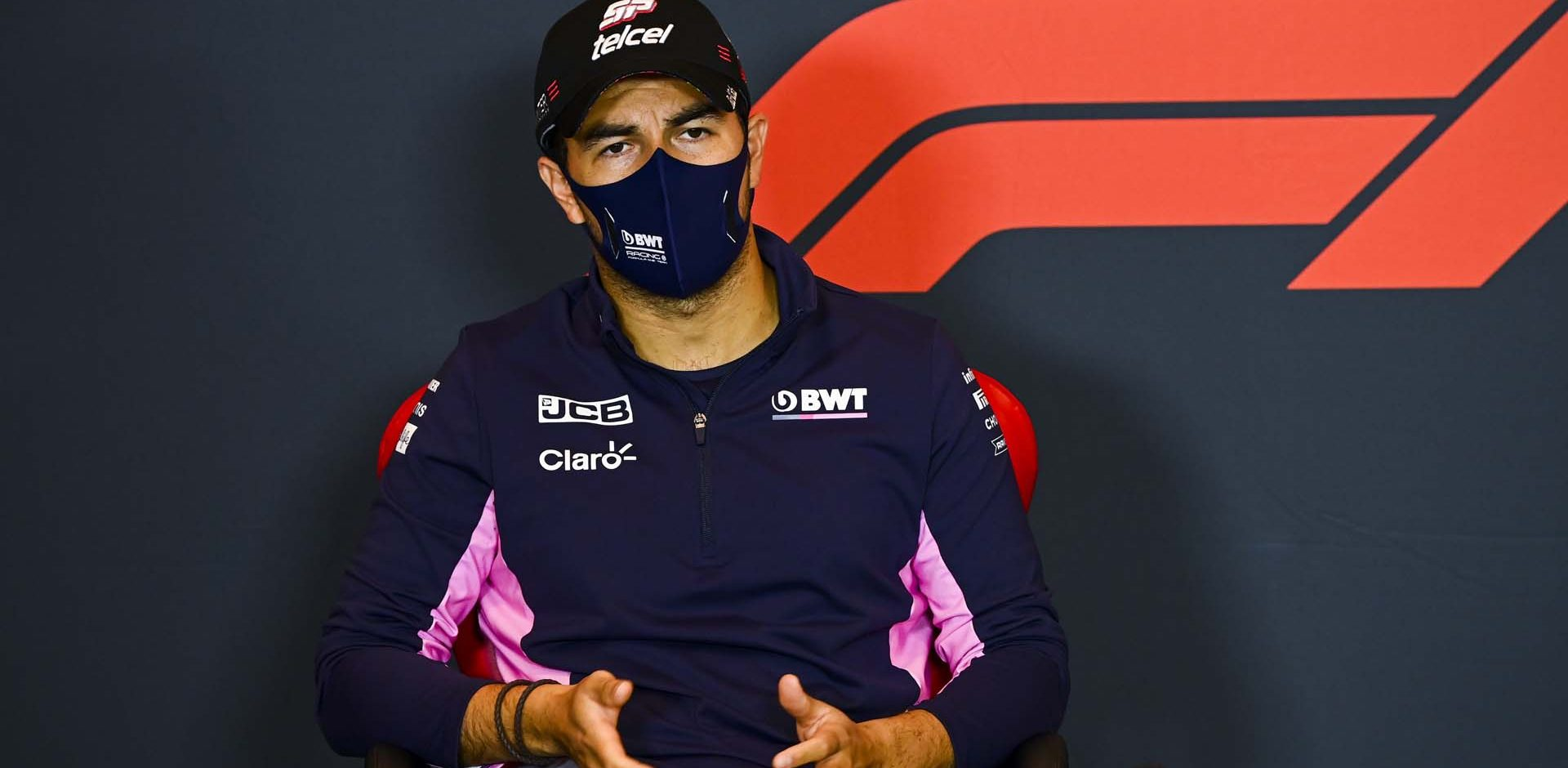 Sergio Perez, Racing Point, in a Press Conference