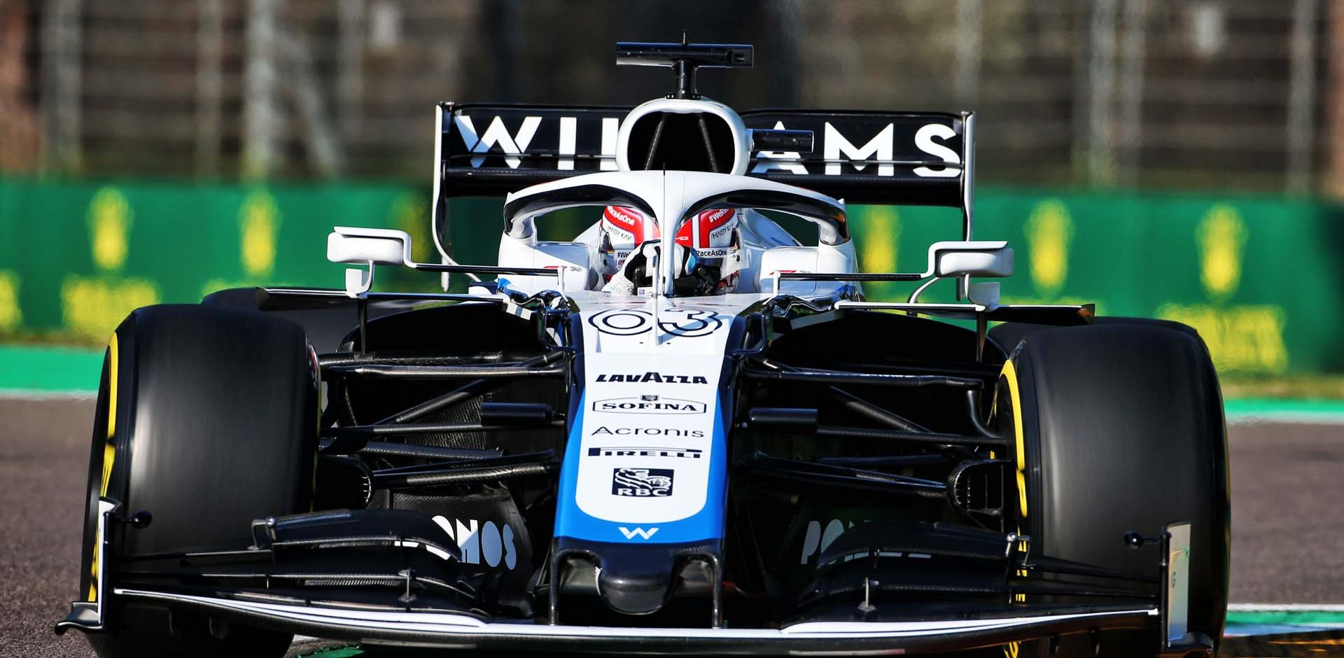 George Russell (GBR) Williams Racing FW43. Emilia Romagna Grand Prix, Saturday 31st October 2020. Imola, Italy.