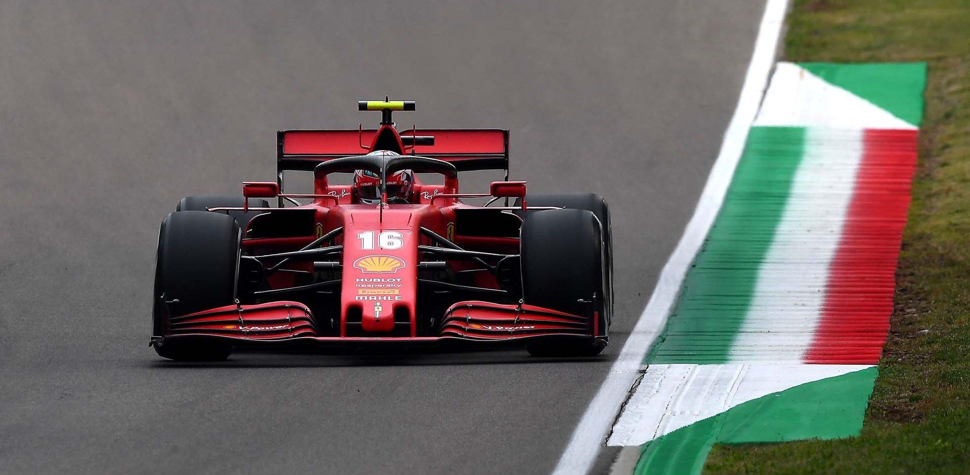 GP EMILIA ROMAGNA F1/2020 -  DOMENICA 01/11/2020   Charles Leclerc credit: @Scuderia Ferrari Press Office