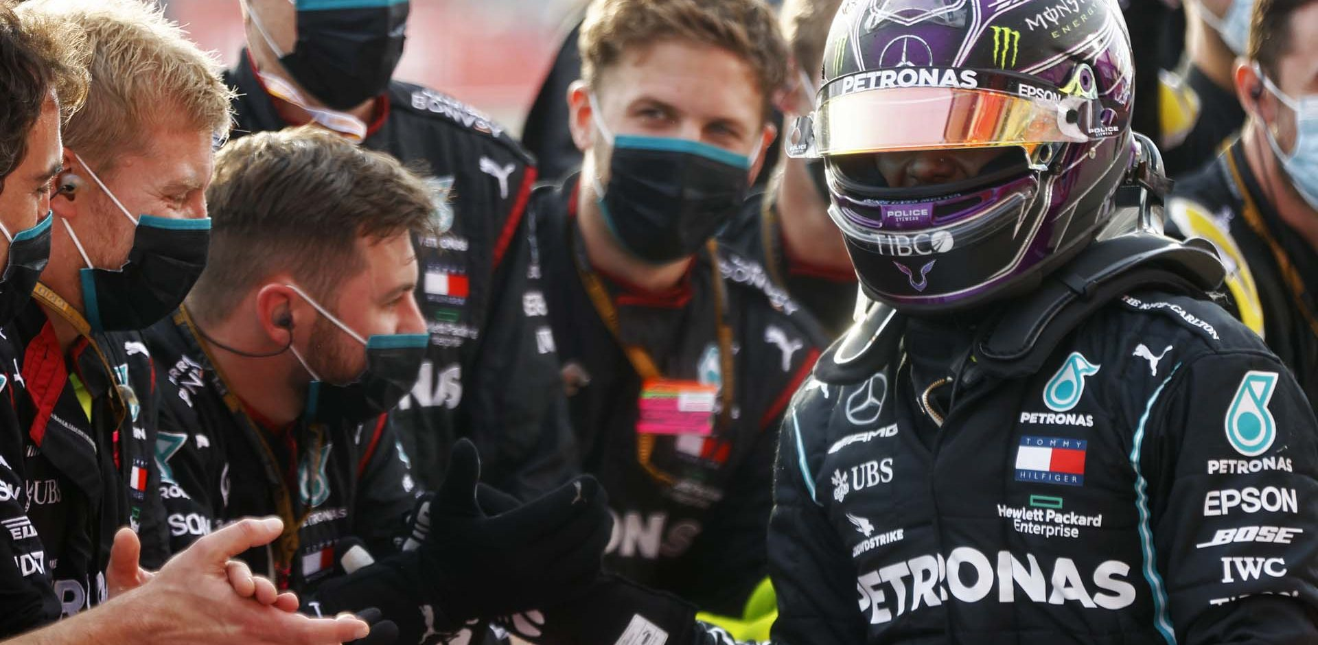2020 Emilia Romagna Grand Prix, Sunday - LAT images Lewis Hamilton Mercedes