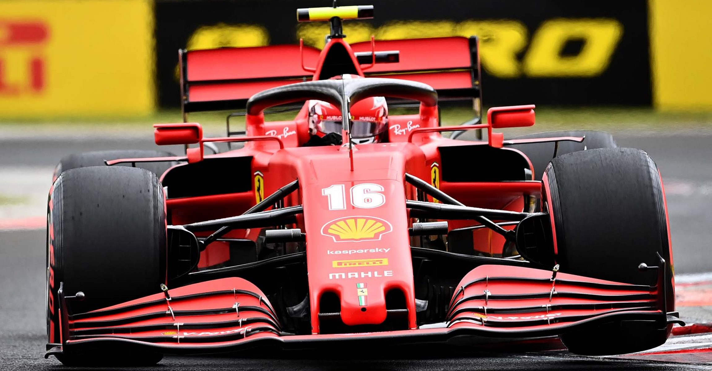Ferrari's Monegasque driver Charles Leclerc steers his car during the qualifying session for the Formula One Hungarian Grand Prix at the Hungaroring circuit in Mogyorod near Budapest, Hungary, on July 18, 2020. (Photo by Joe Klamar / various sources / AFP)