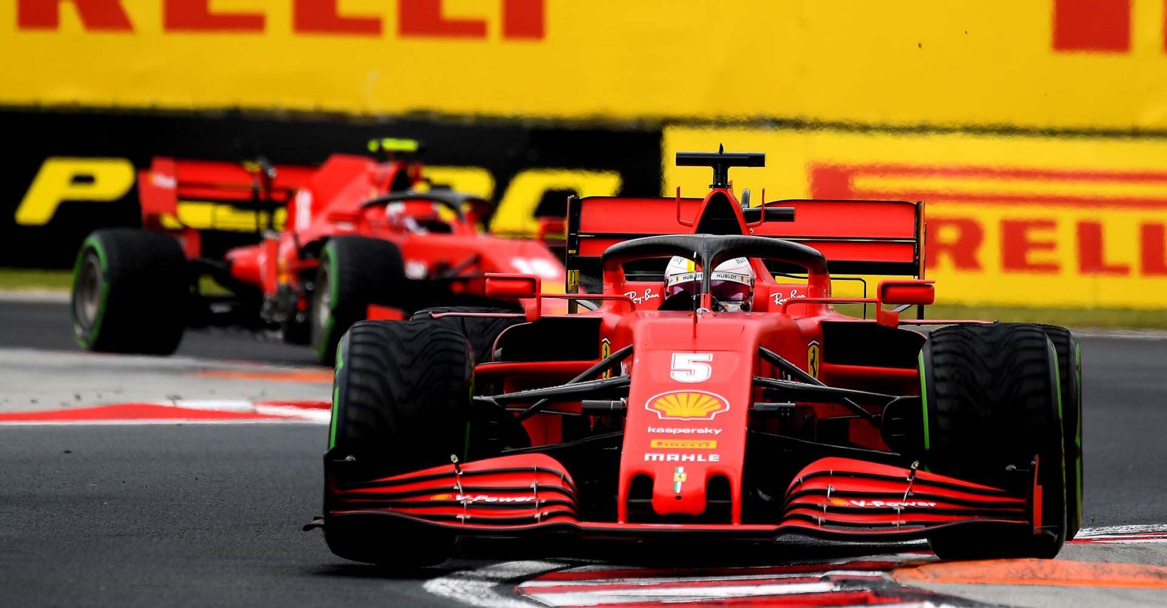 GP UNGHERIA  F1/2020 -  DOMENICA 19/07/2020  credit: @Scuderia Ferrari Press Office Sebastian Vettel followed by Charles Leclerc