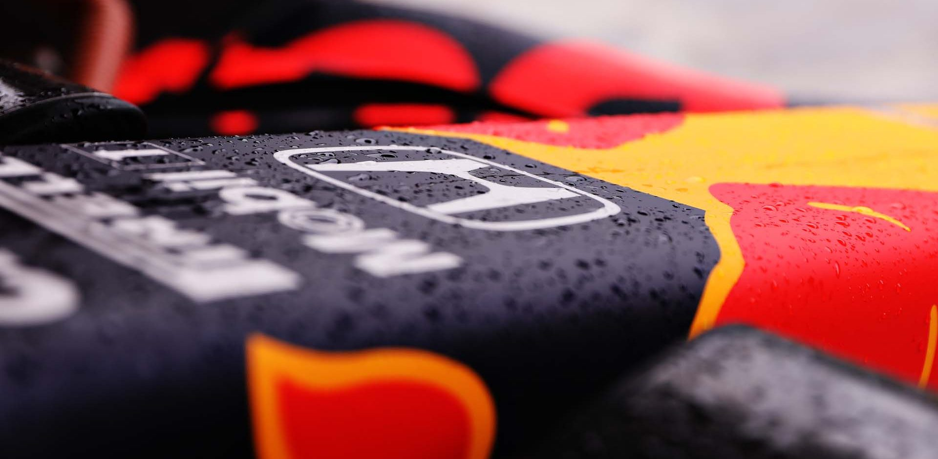 BUDAPEST, HUNGARY - JULY 19: Rain is seen on the Red Bull Racing RB16 before the Formula One Grand Prix of Hungary at Hungaroring on July 19, 2020 in Budapest, Hungary. (Photo by Getty Images/Getty Images) // Getty Images / Red Bull Content Pool  // AP-24P67EHV92111 // Usage for editorial use only //