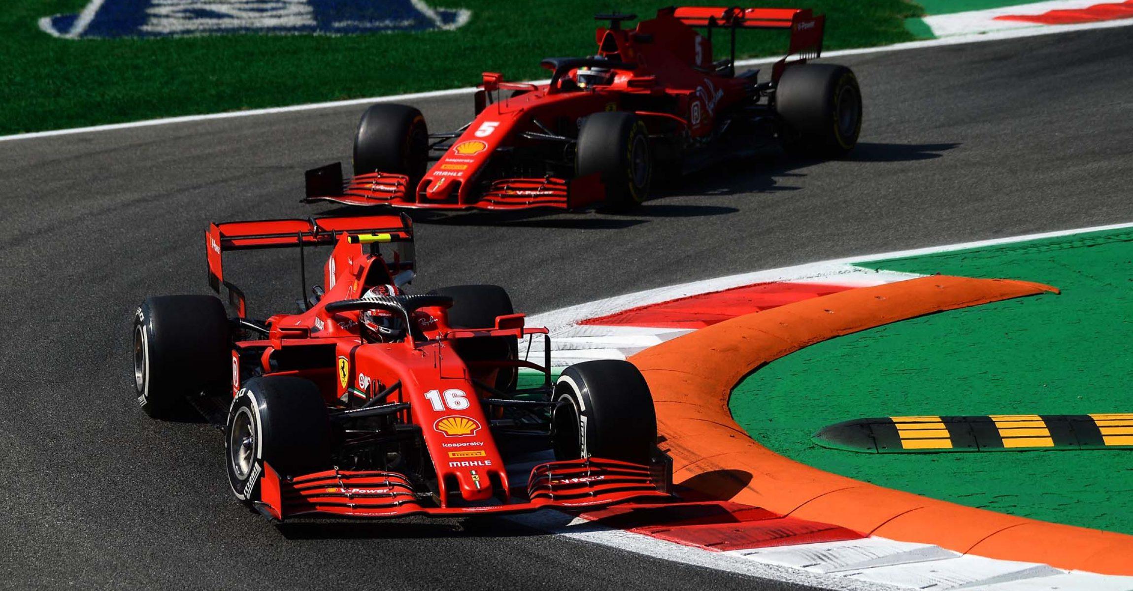 GP ITALIA F1/2020 -  VENERDÌ 04/09/2020       credit: @Scuderia Ferrari Press Office Charles Leclerc Sebastian Vettel