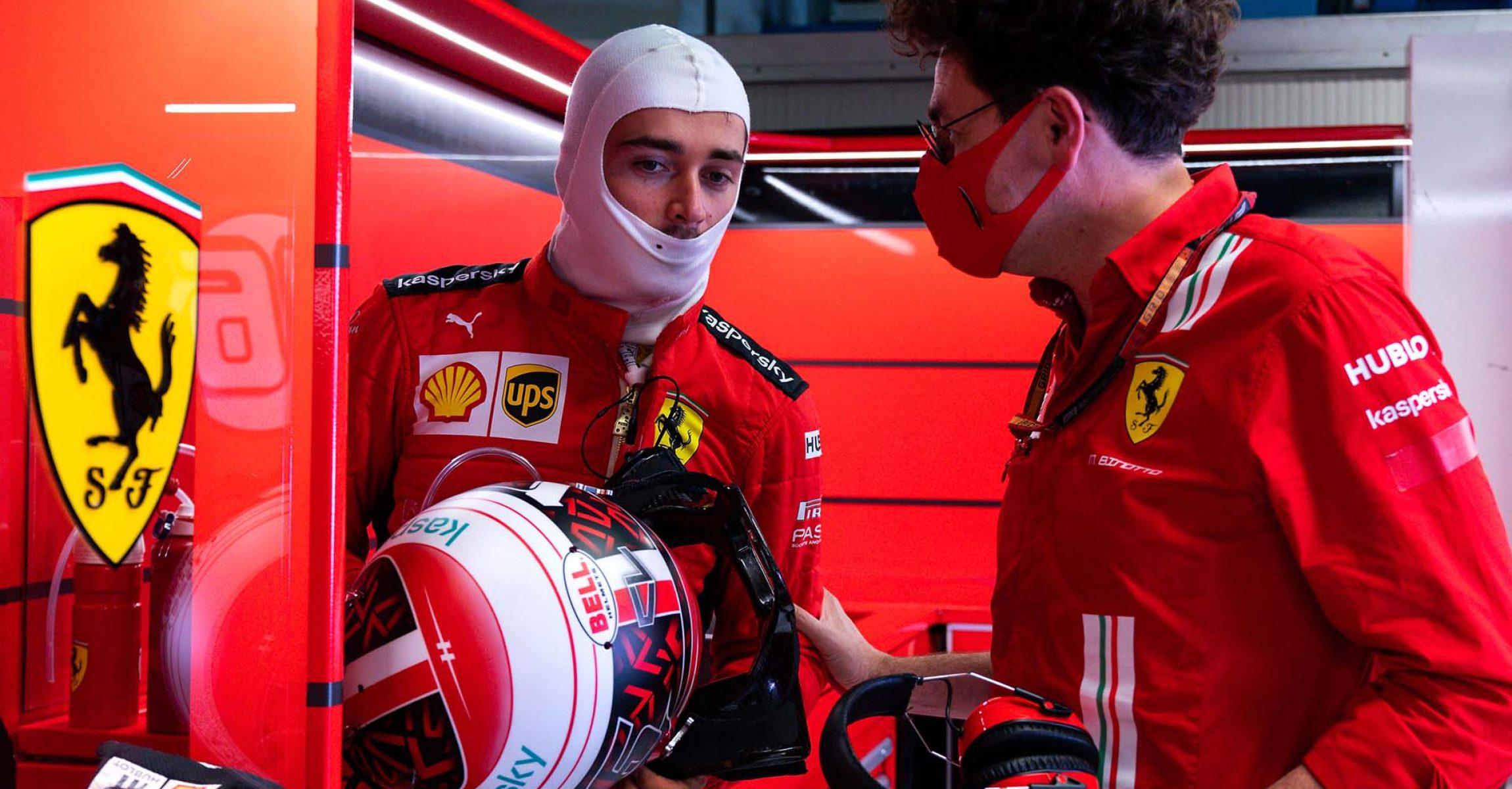 GP ITALIA F1/2020 -  SABATO 05/09/2020   credit: @Scuderia Ferrari Press Office Charles Leclerc Mattia Binotto