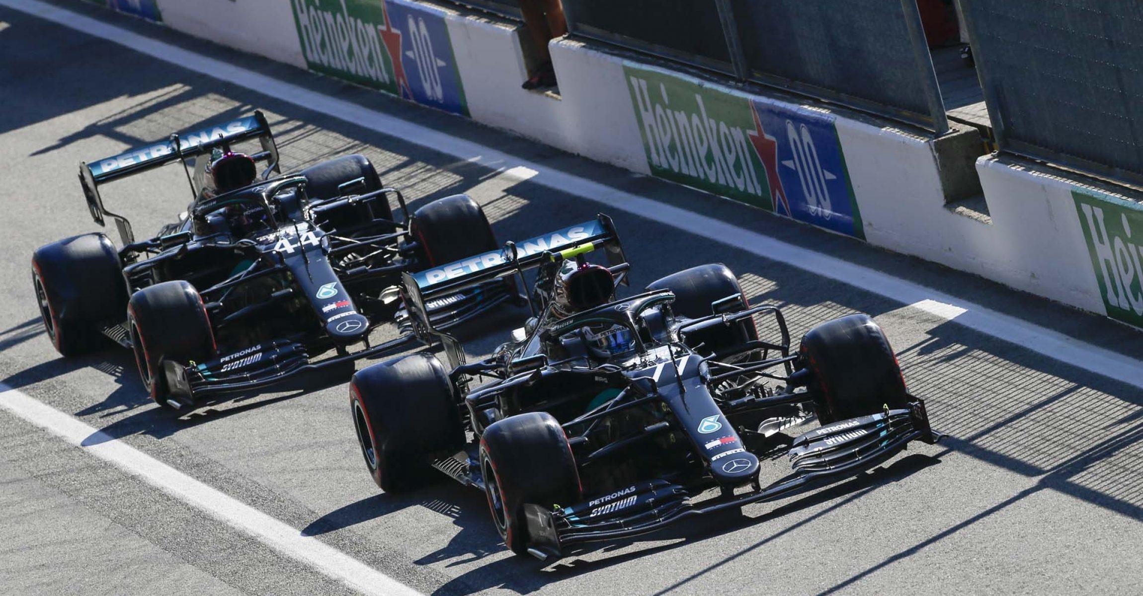 2020 Italian Grand Prix, Saturday - Wolfgang Wilhelm Valtteri Bottas Lewis Hamilton Mercedes