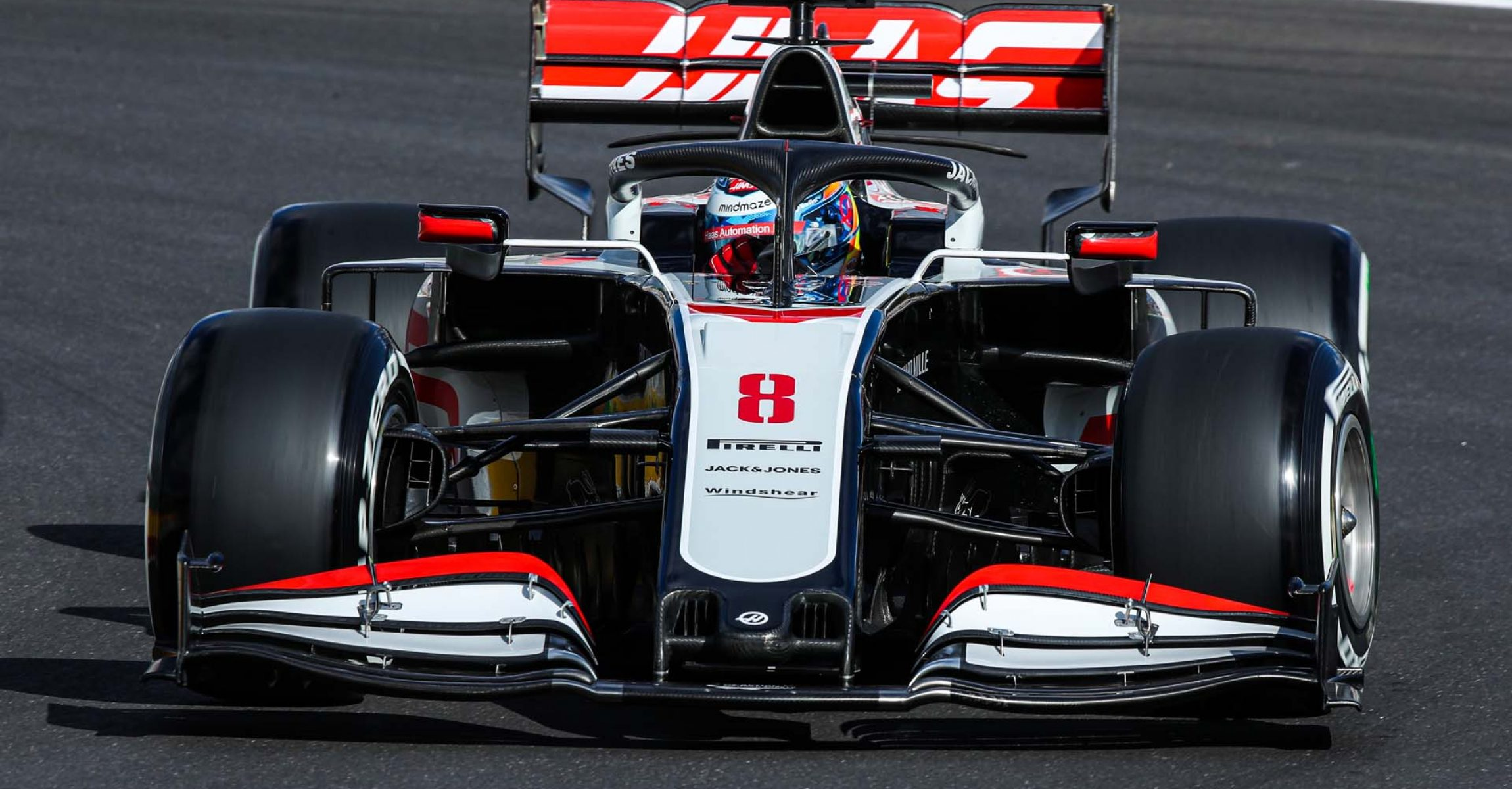 ALGARVE INTERNATIONAL CIRCUIT, PORTUGAL - OCTOBER 23: Romain Grosjean, Haas VF-20 during the Portuguese GP at Algarve International Circuit on Friday October 23, 2020, Portugal. (Photo by Charles Coates / LAT Images)