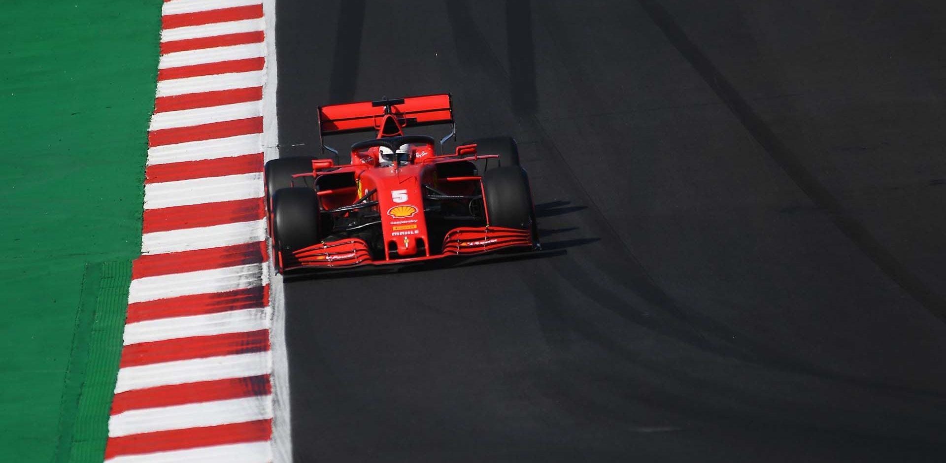 GP PORTOGALLO F1/2020 -  SABATO 24/10/2020  Sebastian Vettel  credit: @Scuderia Ferrari Press Office Sebastian Vettel