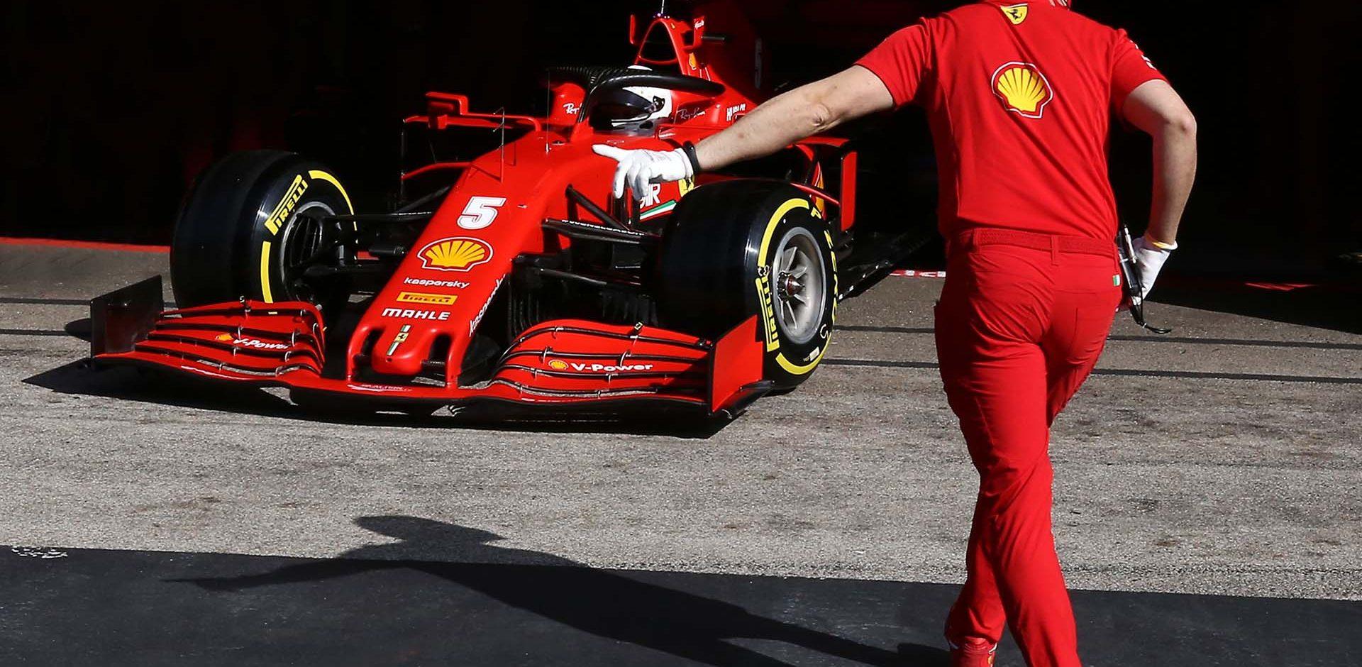GP PORTOGALLO F1/2020 -  SABATO 24/10/2020   Sebastian Vettel credit: @Scuderia Ferrari Press Office