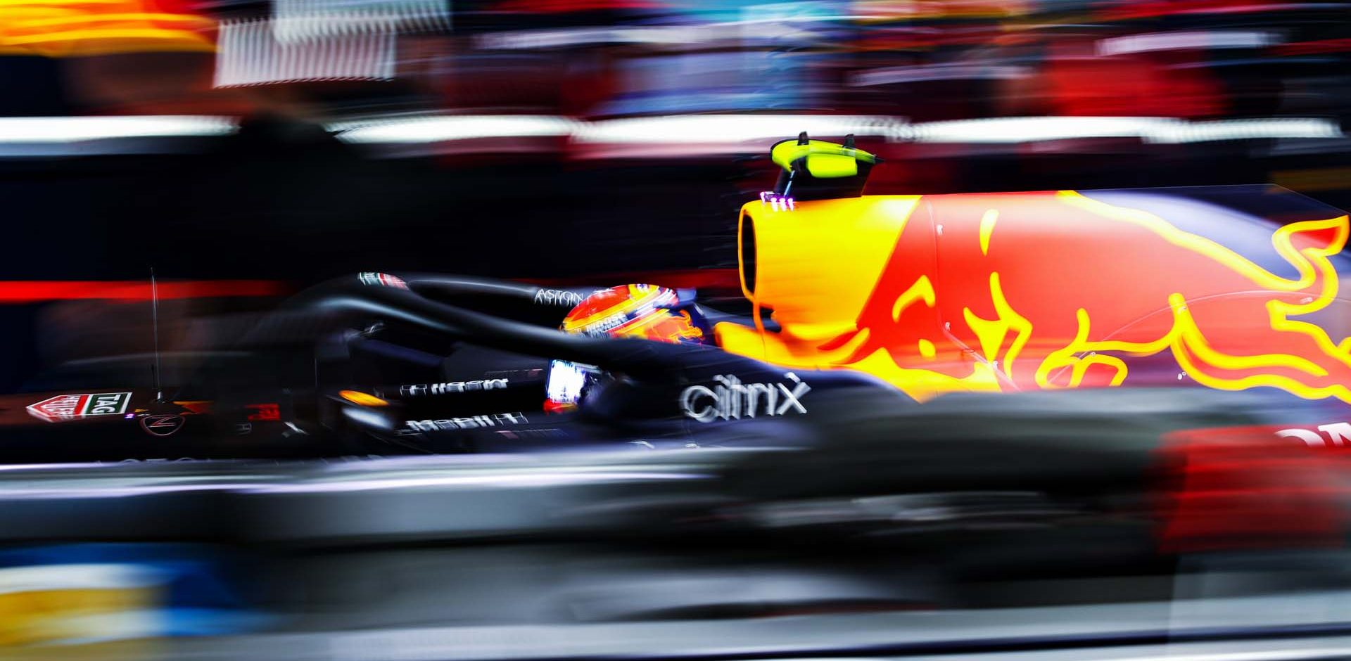 PORTIMAO, PORTUGAL - OCTOBER 24: Alexander Albon of Thailand driving the (23) Aston Martin Red Bull Racing RB16 leaves the garage during final practice ahead of the F1 Grand Prix of Portugal at Autodromo Internacional do Algarve on October 24, 2020 in Portimao, Portugal. (Photo by Mark Thompson/Getty Images) beatuy