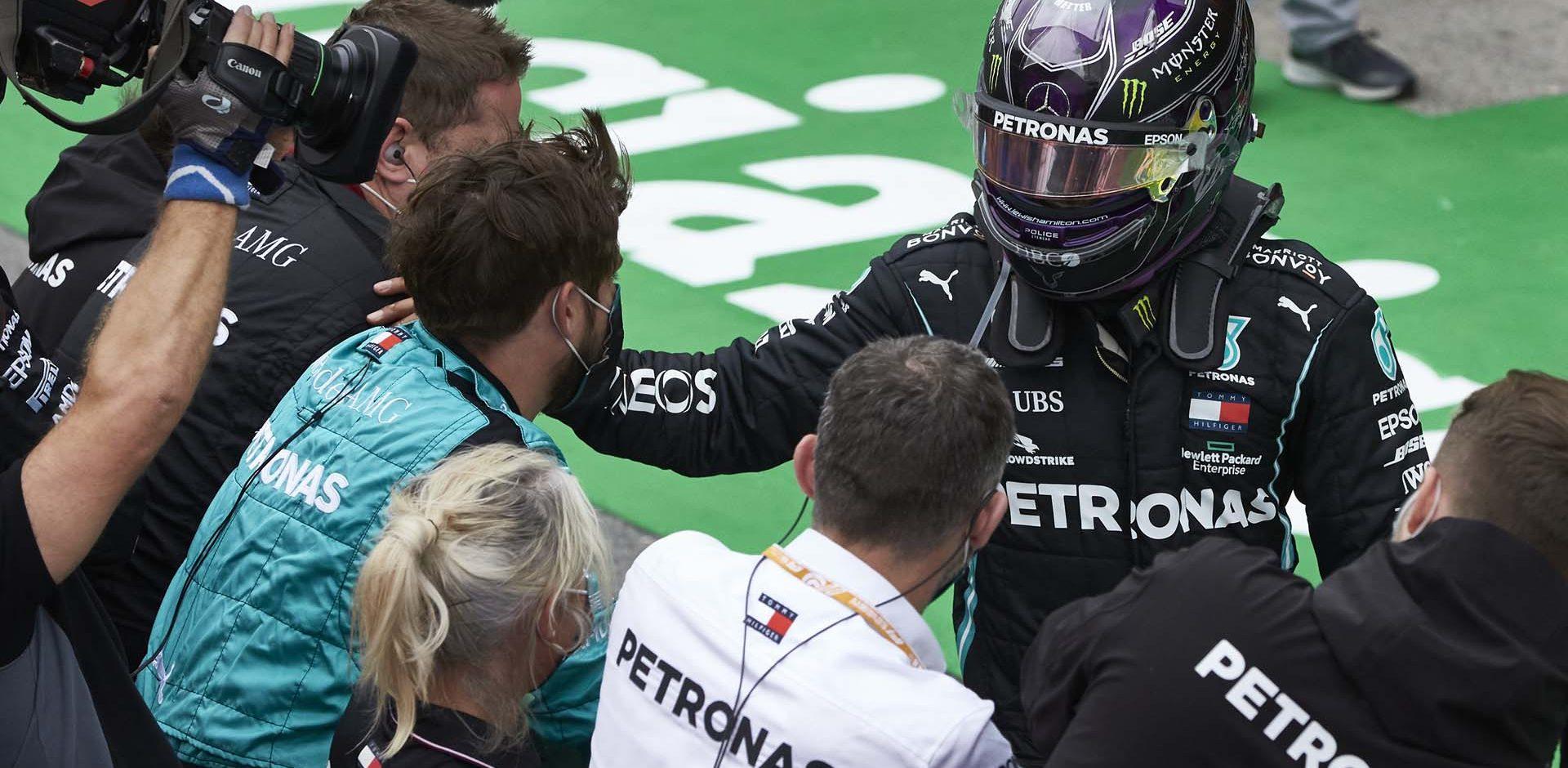 2020 Portuguese Grand Prix, Sunday - Steve Etherington Lewis Hamilton Mercedes