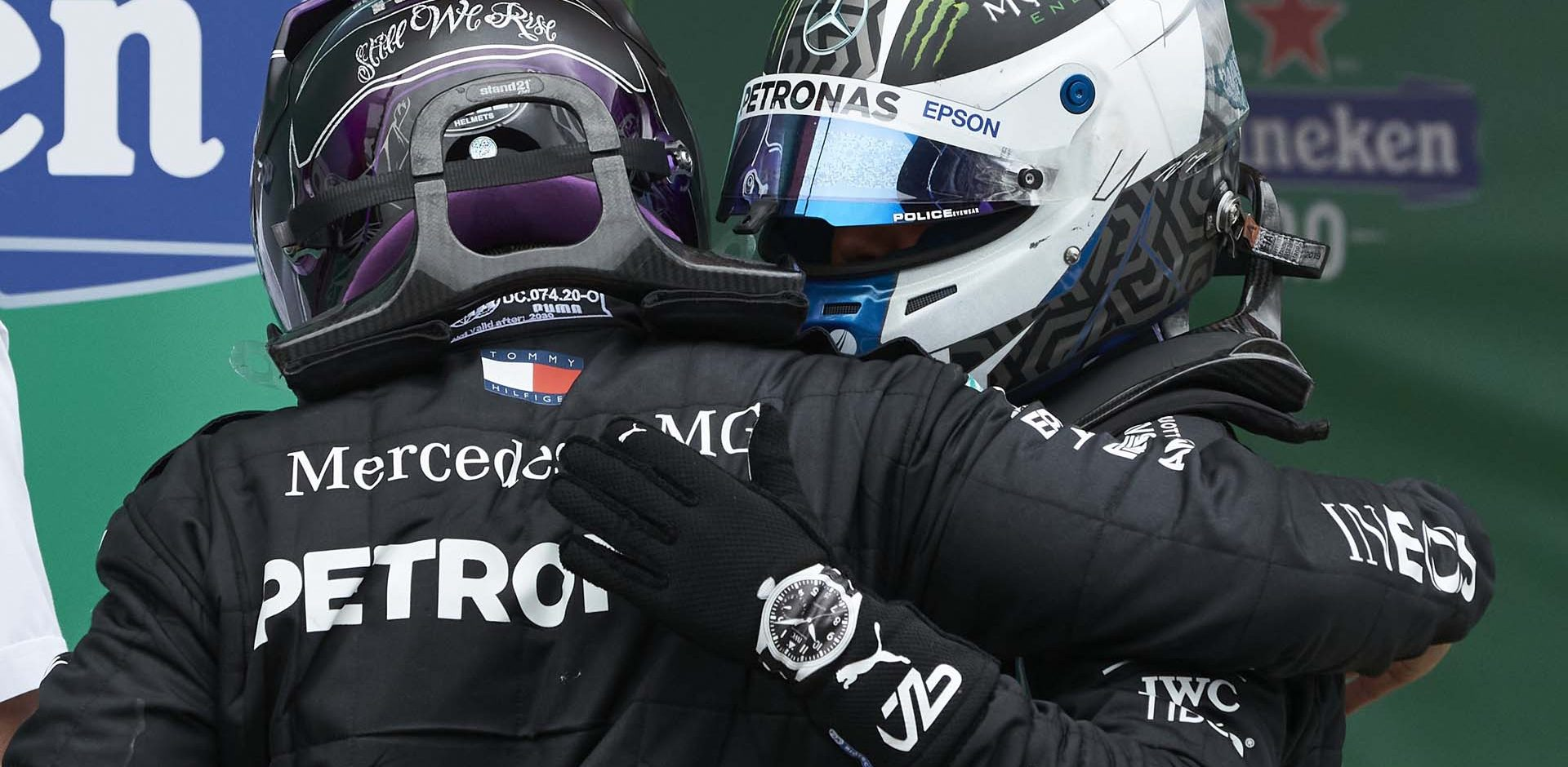 2020 Portuguese Grand Prix, Sunday - Steve Etherington Lewis Hamilton Valtteri Bottas Mercedes