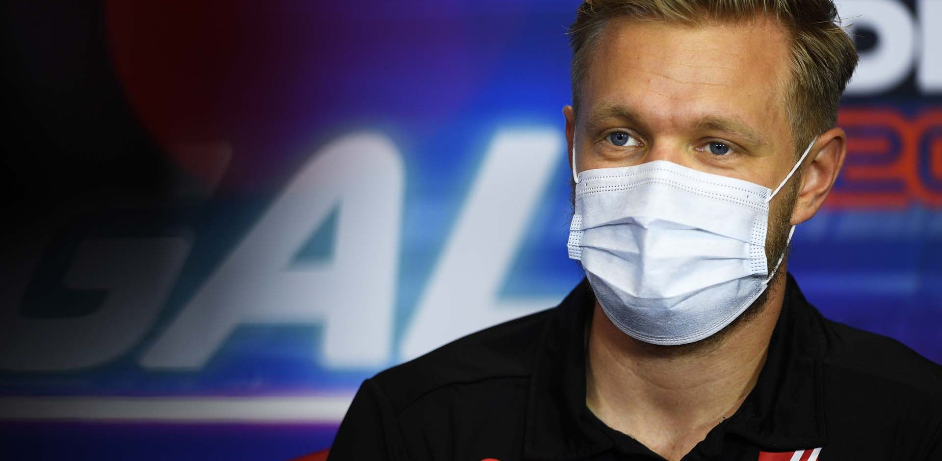 ALGARVE INTERNATIONAL CIRCUIT, PORTUGAL - OCTOBER 22: Kevin Magnussen, Haas F1, in the press conference during the Portuguese GP at Algarve International Circuit on Thursday October 22, 2020, Portugal. (Copyright Free for Editorial Use Only. Credit: FIA Pool / LAT Images)