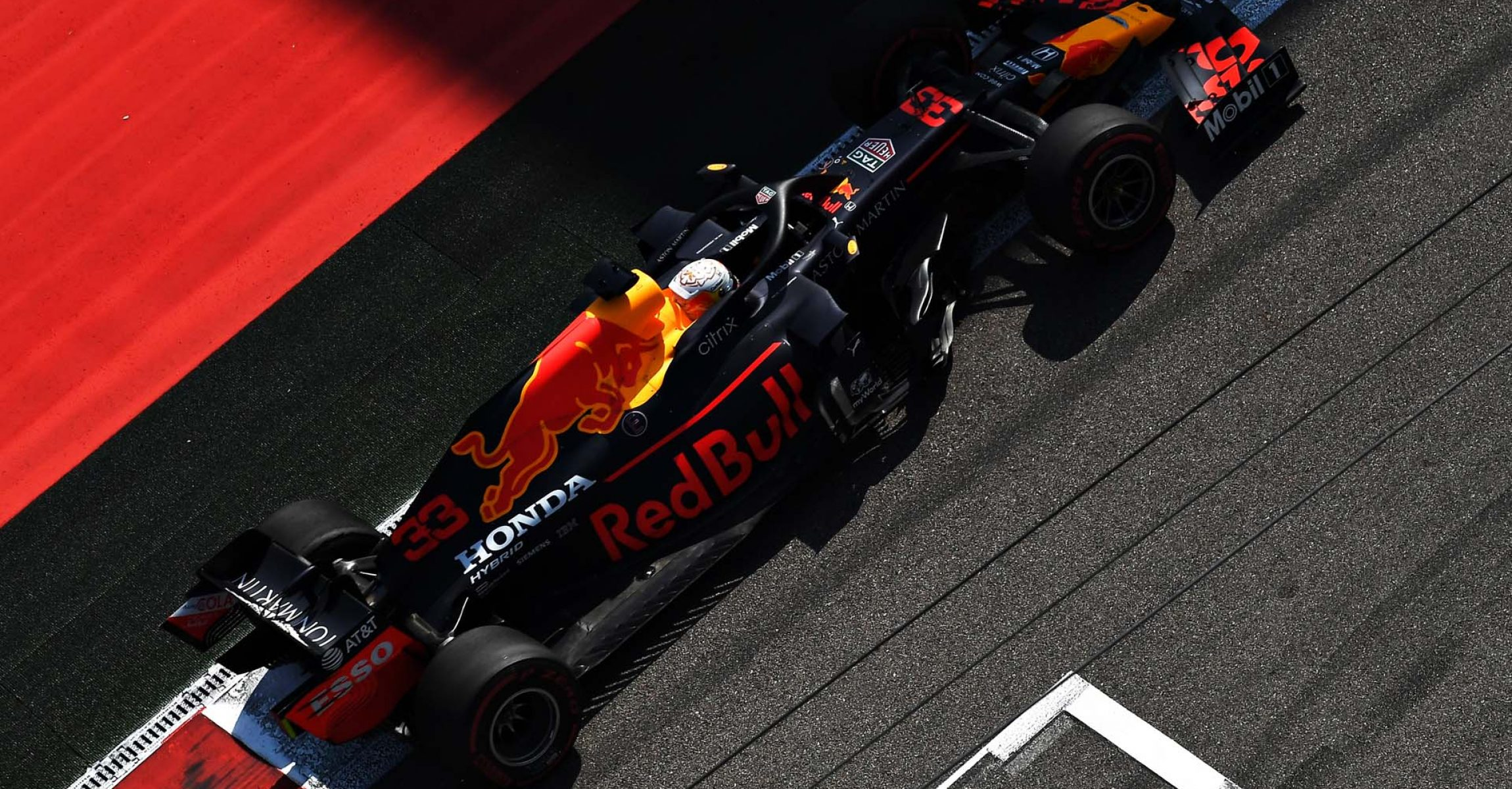 SOCHI, RUSSIA - SEPTEMBER 25: Max Verstappen of the Netherlands driving the (33) Aston Martin Red Bull Racing RB16 on track during practice ahead of the F1 Grand Prix of Russia at Sochi Autodrom on September 25, 2020 in Sochi, Russia. (Photo by Kirill Kudryavtsev - Pool/Getty Images)