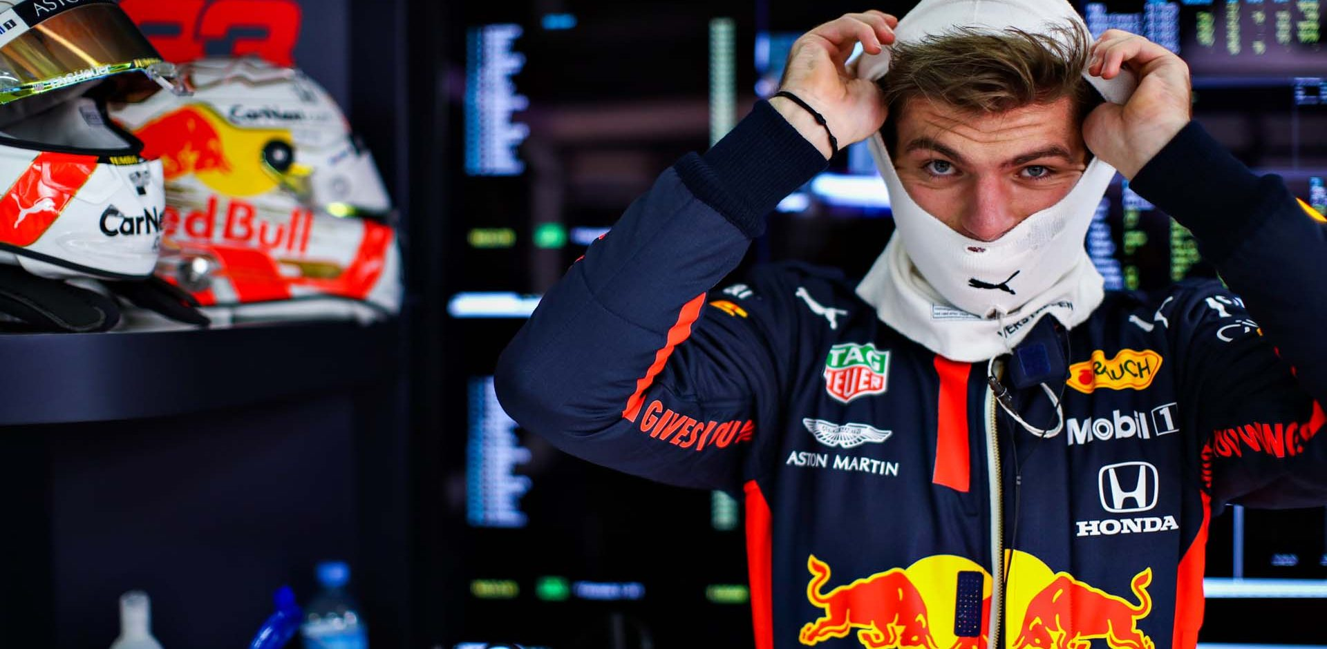 SOCHI, RUSSIA - SEPTEMBER 25: Max Verstappen of Netherlands and Red Bull Racing prepares to drive during practice ahead of the F1 Grand Prix of Russia at Sochi Autodrom on September 25, 2020 in Sochi, Russia. (Photo by Mark Thompson/Getty Images)