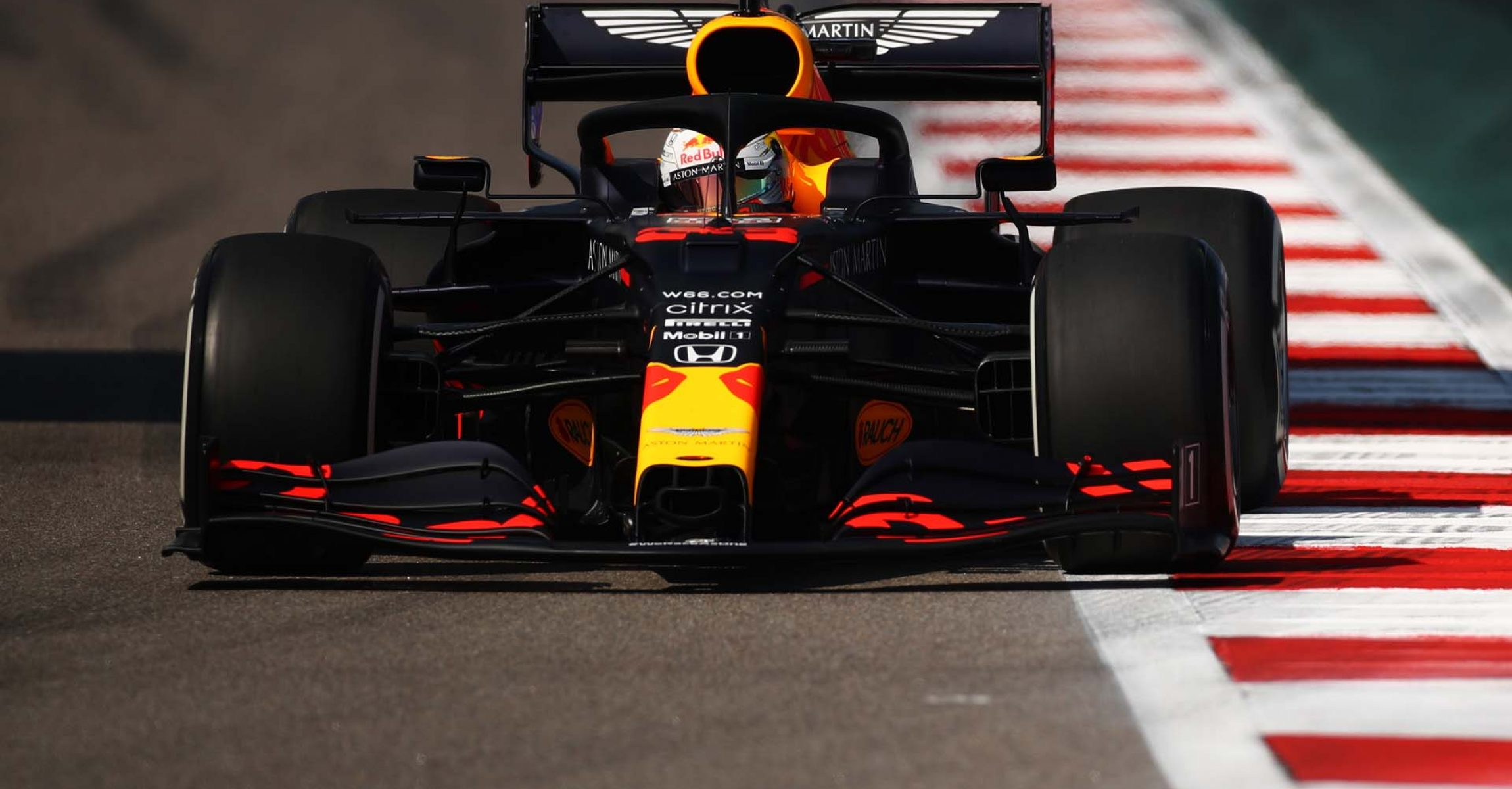 SOCHI, RUSSIA - SEPTEMBER 25: Max Verstappen of the Netherlands driving the (33) Aston Martin Red Bull Racing RB16 on track during practice ahead of the F1 Grand Prix of Russia at Sochi Autodrom on September 25, 2020 in Sochi, Russia. (Photo by Bryn Lennon/Getty Images)