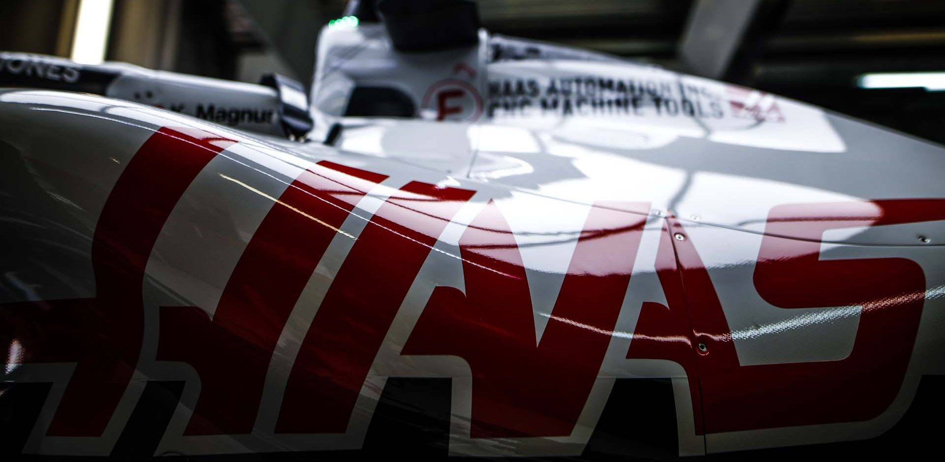 SOCHI AUTODROM, RUSSIAN FEDERATION - SEPTEMBER 24: Haas VF-20 during the Russian GP at Sochi Autodrom on Thursday September 24, 2020 in Sochi, Russian Federation. (Photo by Andy Hone / LAT Images) Haas logo