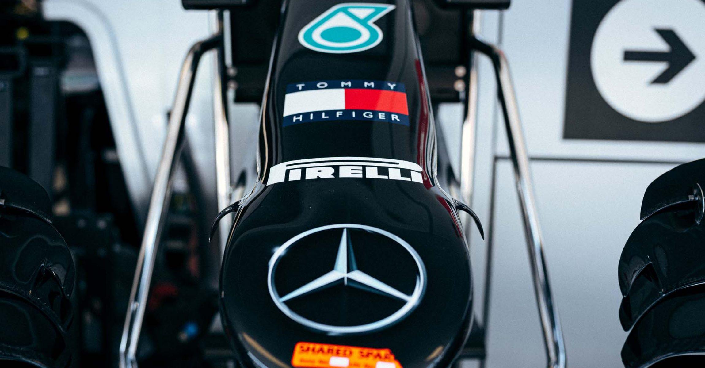 2020 Russian Grand Prix, Thursday - Sebastian Kawka Mercedes nose logo