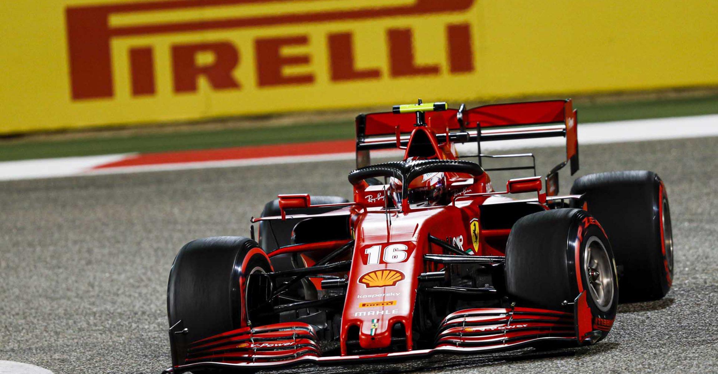 Charles Leclerc Ferrari Pirelli