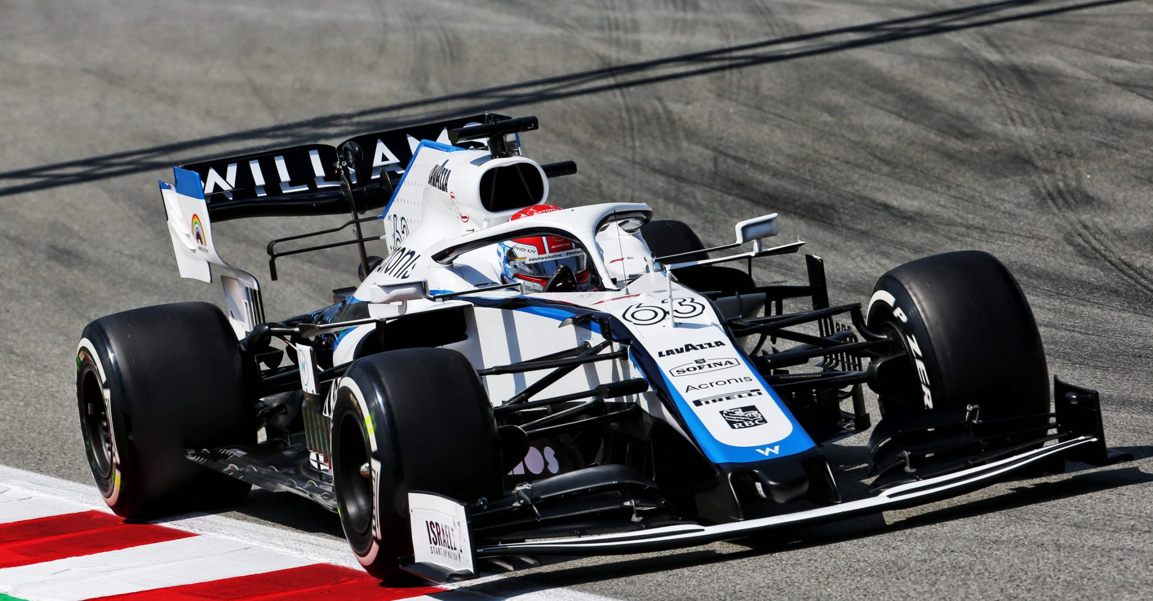 George Russell (GBR) Williams Racing FW43. Spanish Grand Prix, Friday 14th August 2020. Barcelona, Spain.