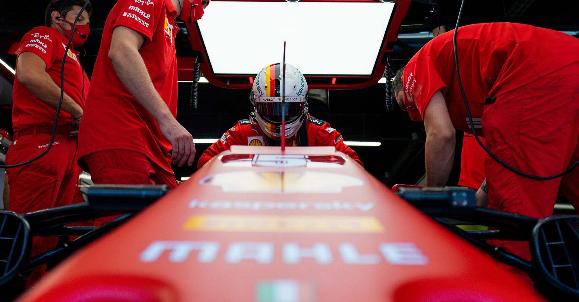 GP SPAGNA F1/2020 -  SABATO 15/08/2020   credit: @Scuderia Ferrari Press Office Sebastian Vettel