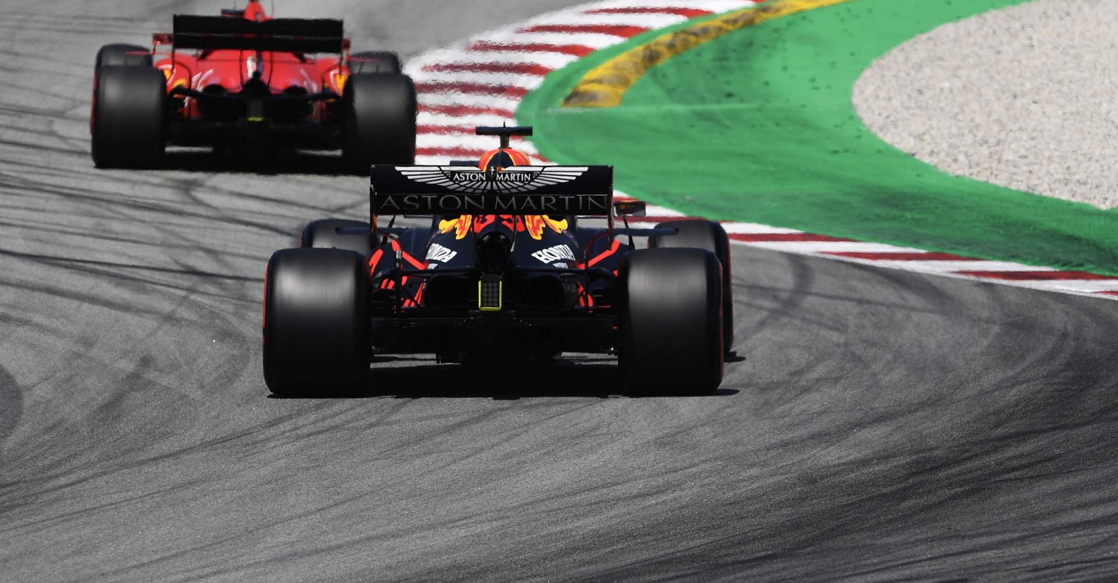 BARCELONA, SPAIN - AUGUST 15: Max Verstappen of the Netherlands driving the (33) Aston Martin Red Bull Racing RB16 on track during final practice for the F1 Grand Prix of Spain at Circuit de Barcelona-Catalunya on August 15, 2020 in Barcelona, Spain. (Photo by Josep Lago/Pool via Getty Images)