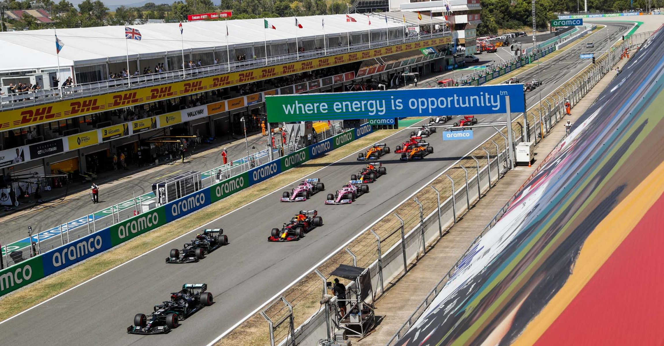 2020 Spanish Grand Prix, Sunday - LAT Images start