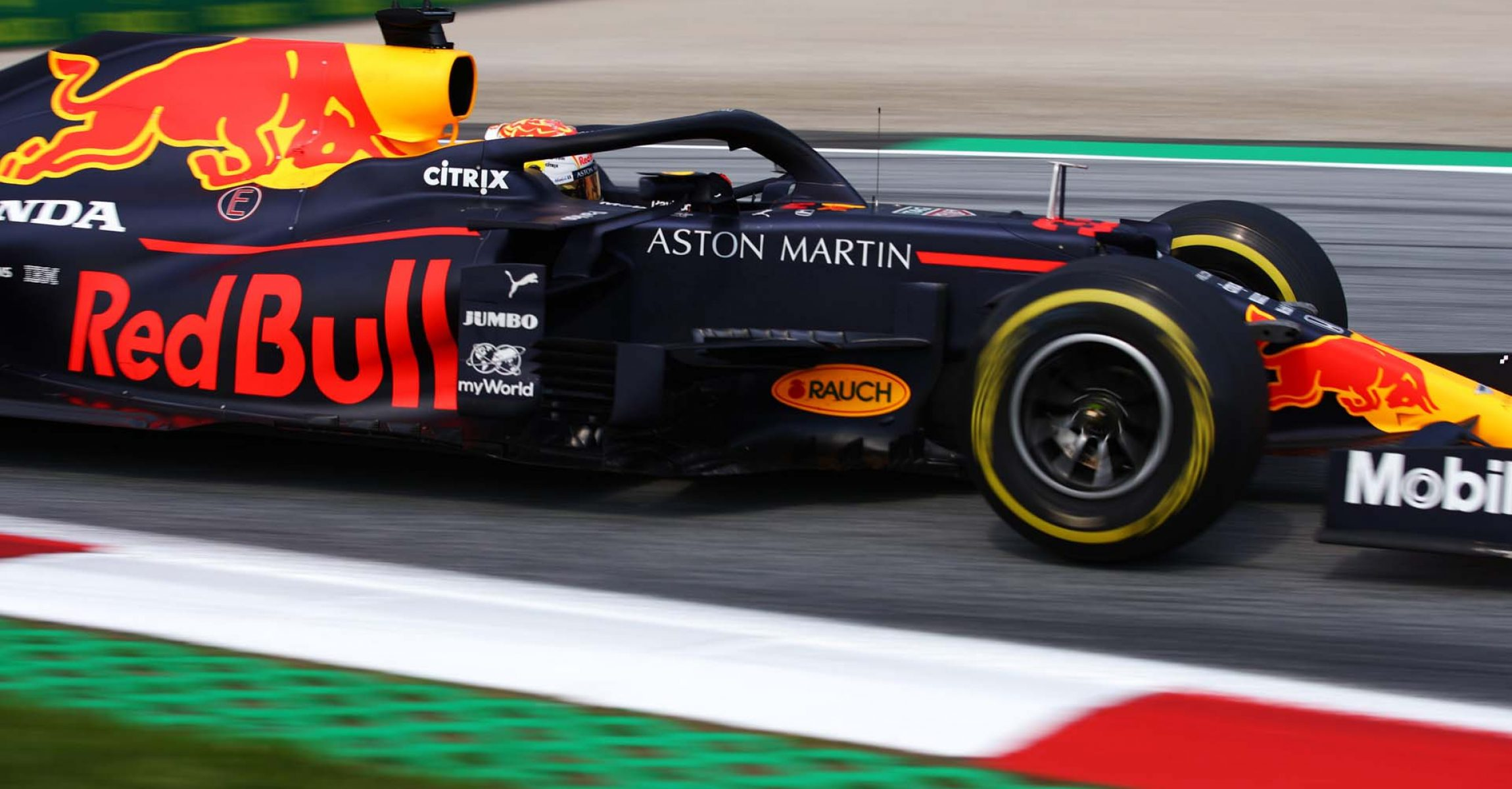 SPIELBERG, AUSTRIA - JULY 10: Max Verstappen of the Netherlands driving the (33) Aston Martin Red Bull Racing RB16 on track during practice for the F1 Grand Prix of Styria at Red Bull Ring on July 10, 2020 in Spielberg, Austria. (Photo by Bryn Lennon/Getty Images) // Getty Images / Red Bull Content Pool // AP-24KAPBZP92111 // Usage for editorial use only //