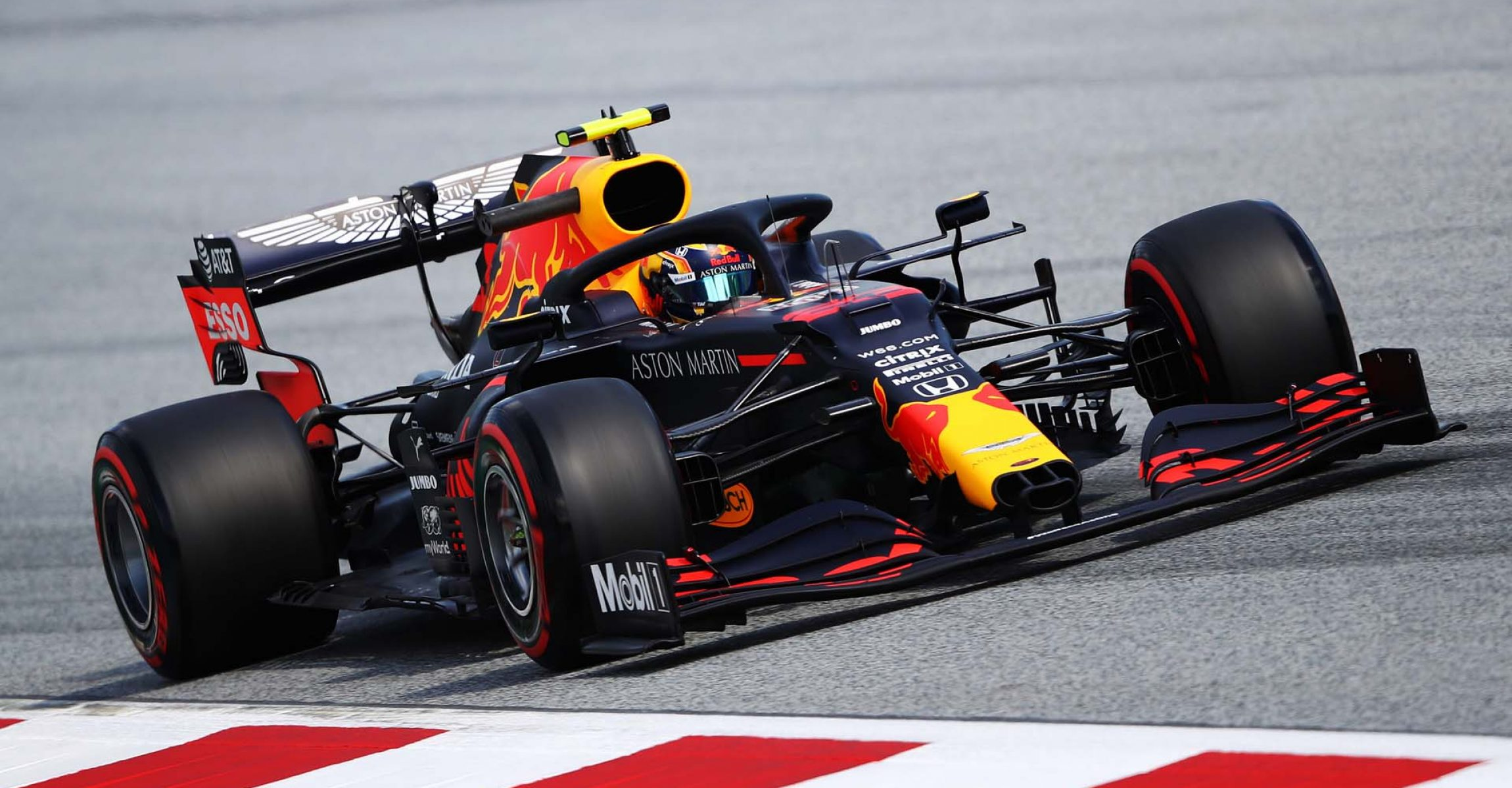 SPIELBERG, AUSTRIA - JULY 10: Alexander Albon of Thailand driving the (23) Aston Martin Red Bull Racing RB16 on track during practice for the F1 Grand Prix of Styria at Red Bull Ring on July 10, 2020 in Spielberg, Austria. (Photo by Bryn Lennon/Getty Images) // Getty Images / Red Bull Content Pool // AP-24KAPCZVD2111 // Usage for editorial use only //