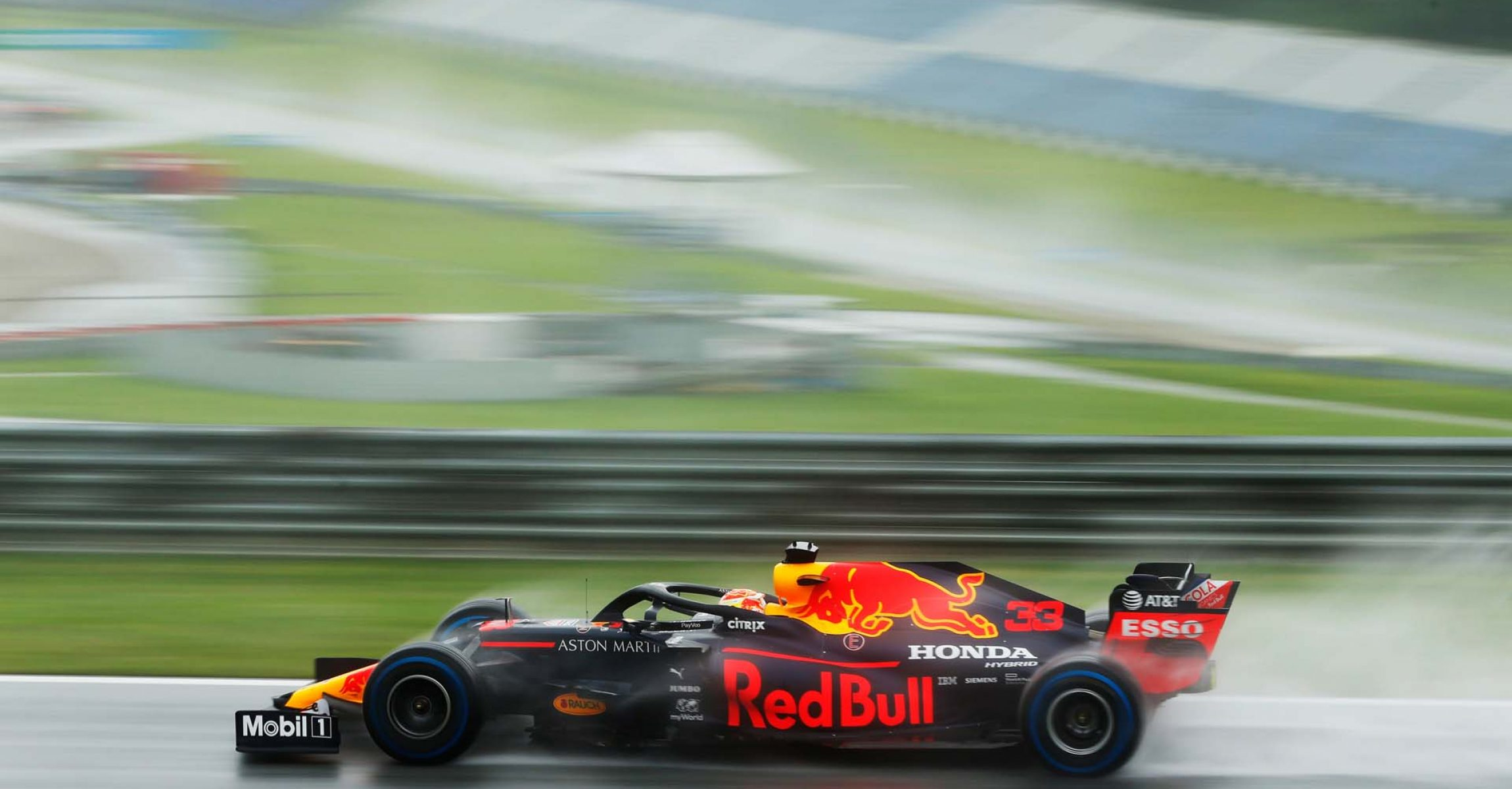 SPIELBERG, AUSTRIA - JULY 11: Max Verstappen of the Netherlands driving the (33) Aston Martin Red Bull Racing RB16 on track during qualifying for the Formula One Grand Prix of Styria at Red Bull Ring on July 11, 2020 in Spielberg, Austria. (Photo by Darko Bandic/Pool via Getty Images) // Getty Images / Red Bull Content Pool // AP-24KMM21YN2111 // Usage for editorial use only //