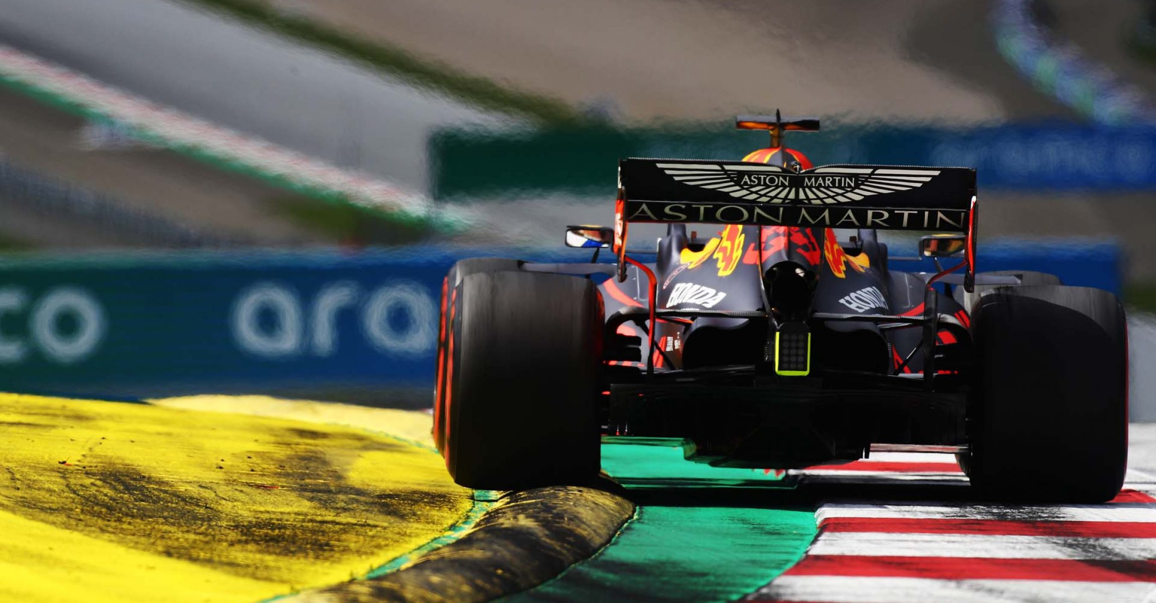 SPIELBERG, AUSTRIA - JULY 12: Max Verstappen of the Netherlands driving the (33) Aston Martin Red Bull Racing RB16 on track during the Formula One Grand Prix of Styria at Red Bull Ring on July 12, 2020 in Spielberg, Austria. (Photo by Mark Thompson/Getty Images) // Getty Images / Red Bull Content Pool // AP-24KXHYT691W11 // Usage for editorial use only //