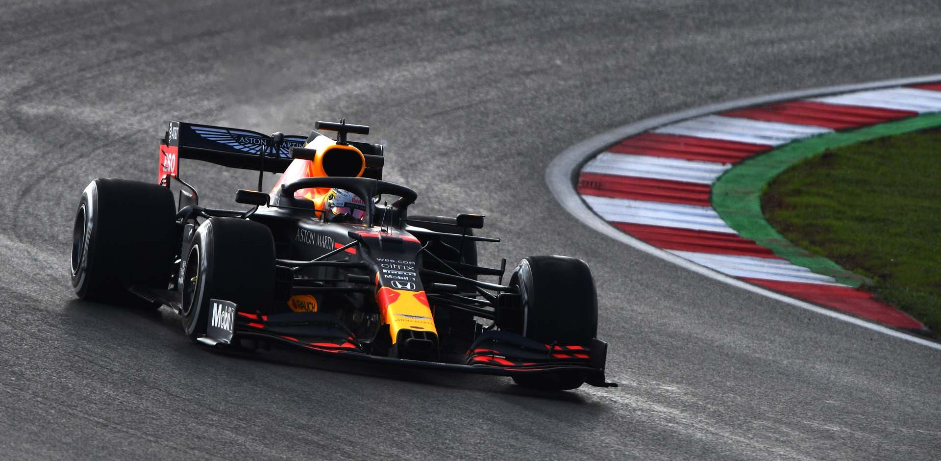 ISTANBUL, TURKEY - NOVEMBER 13: Max Verstappen of the Netherlands driving the (33) Aston Martin Red Bull Racing RB16 on track during practice ahead of the F1 Grand Prix of Turkey at Intercity Istanbul Park on November 13, 2020 in Istanbul, Turkey. (Photo by Rudy Carezzevoli/Getty Images)