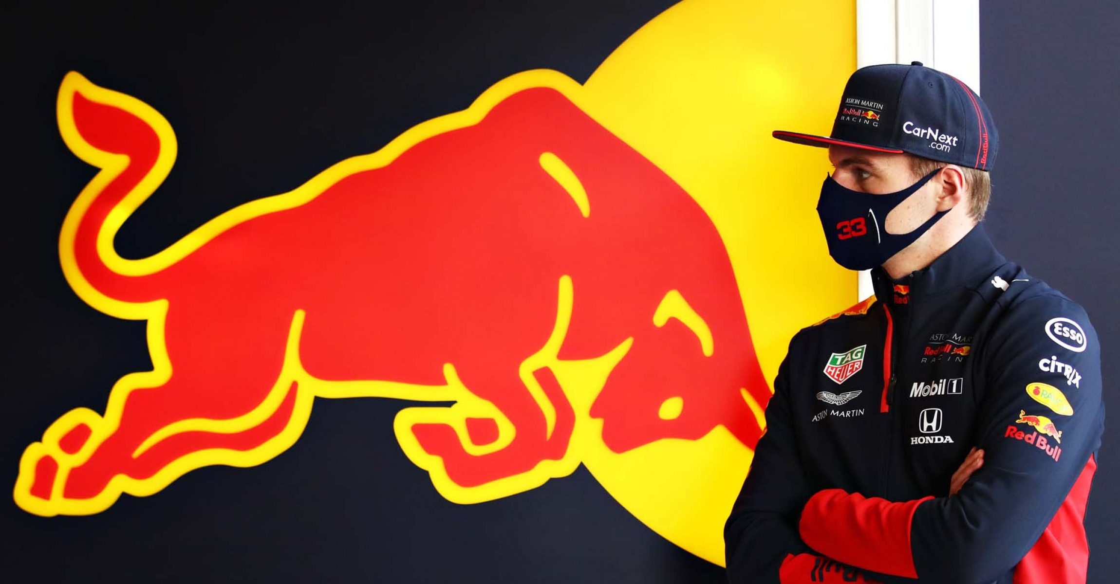 ISTANBUL, TURKEY - NOVEMBER 13: Max Verstappen of Netherlands and Red Bull Racing looks on in the garage during practice ahead of the F1 Grand Prix of Turkey at Intercity Istanbul Park on November 13, 2020 in Istanbul, Turkey. (Photo by Bryn Lennon/Getty Images)
