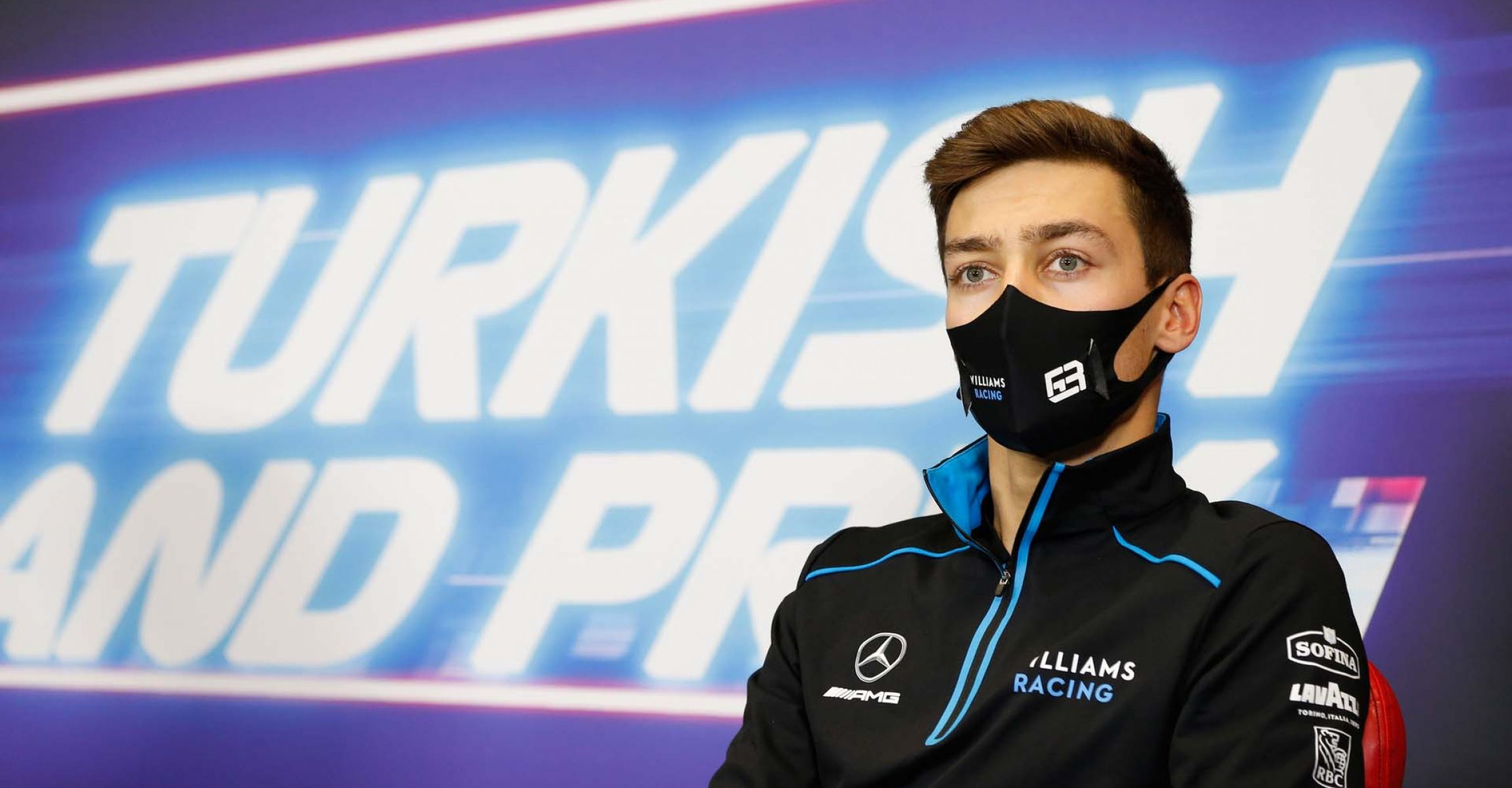 George Russell (GBR) Williams Racing in the FIA Press Conference. Turkish Grand Prix, Thursday 12th November 2020. Istanbul, Turkey. FIA Pool Image for Editorial Use Only