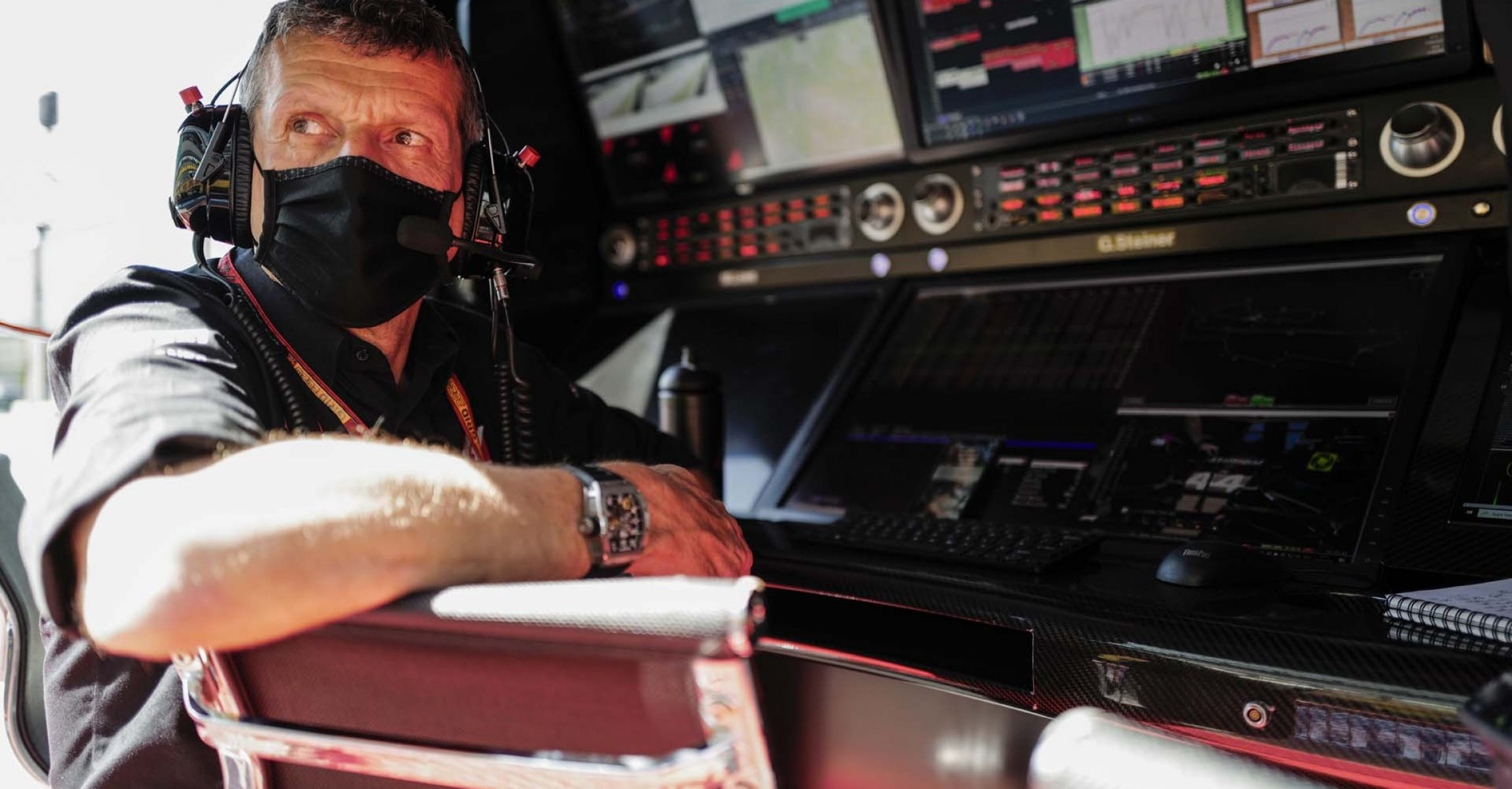 MUGELLO CIRCUIT, ITALY - SEPTEMBER 11: Guenther Steiner, Team Principal, Haas F1, on the pit wall during the Tuscany GP at Mugello Circuit on Friday September 11, 2020, Italy.